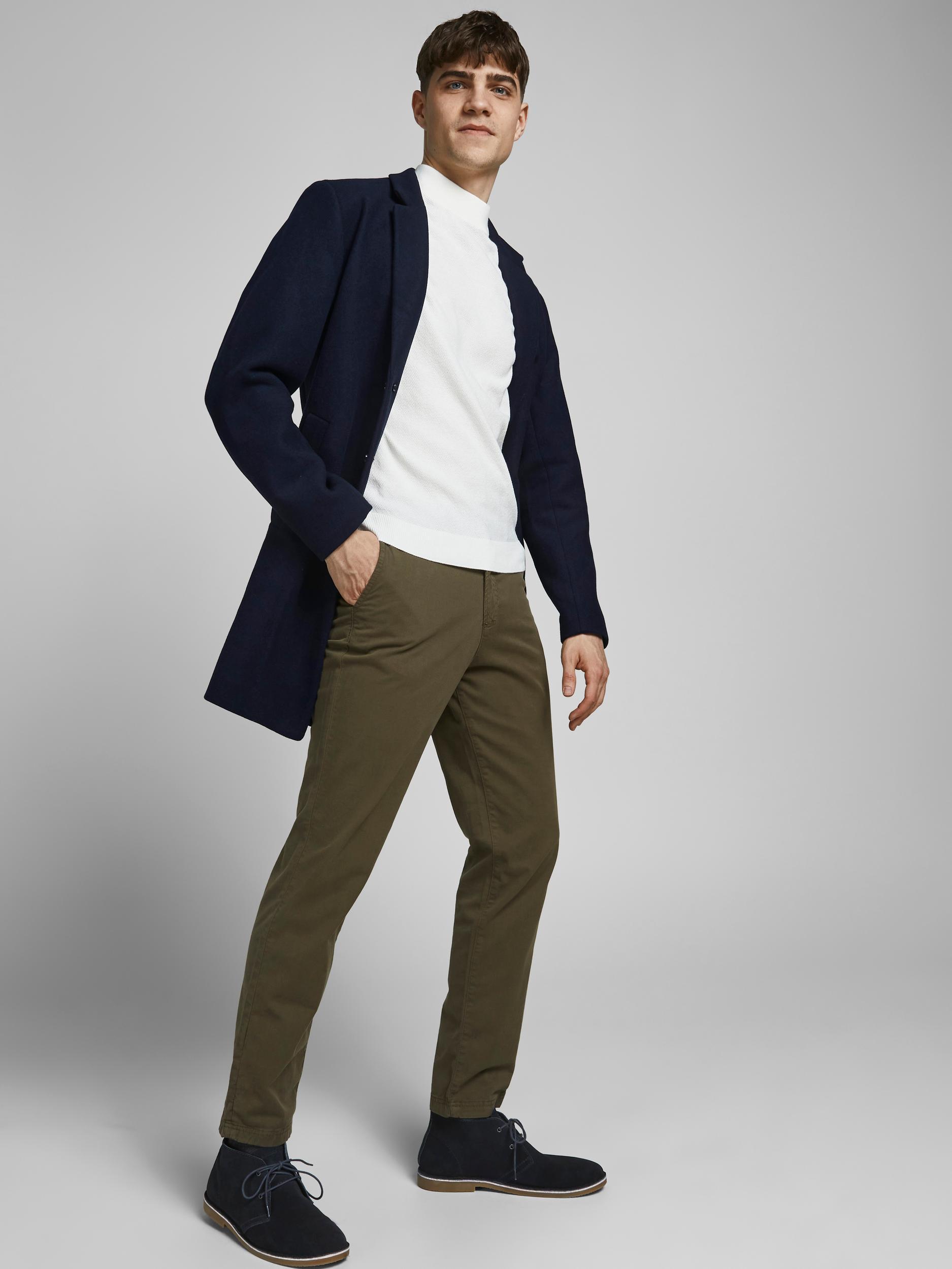 Jack & Jones Moulder uld frakke, navy blazer, large