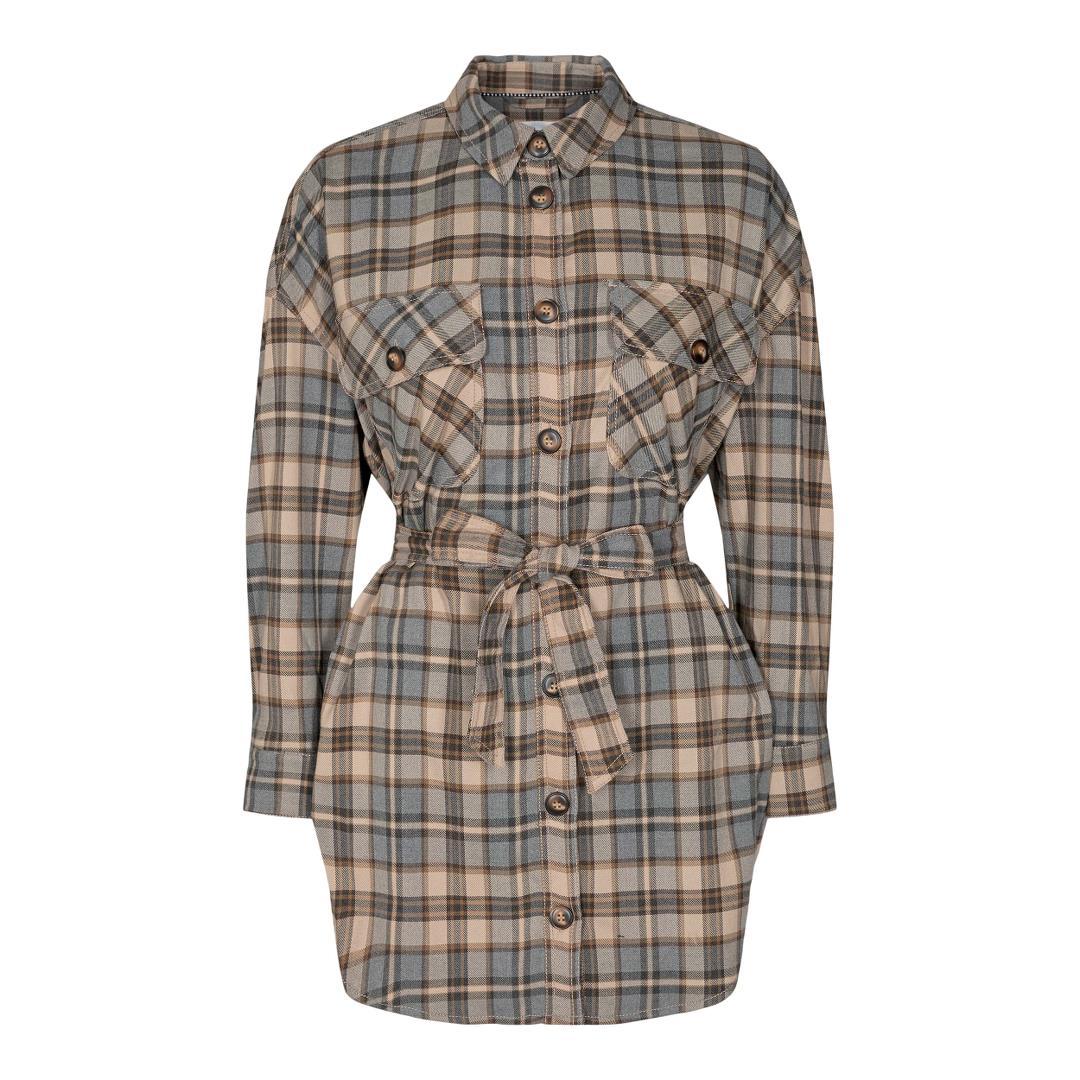 Co'Couture New Luu Check skjorte, walnut, x-large