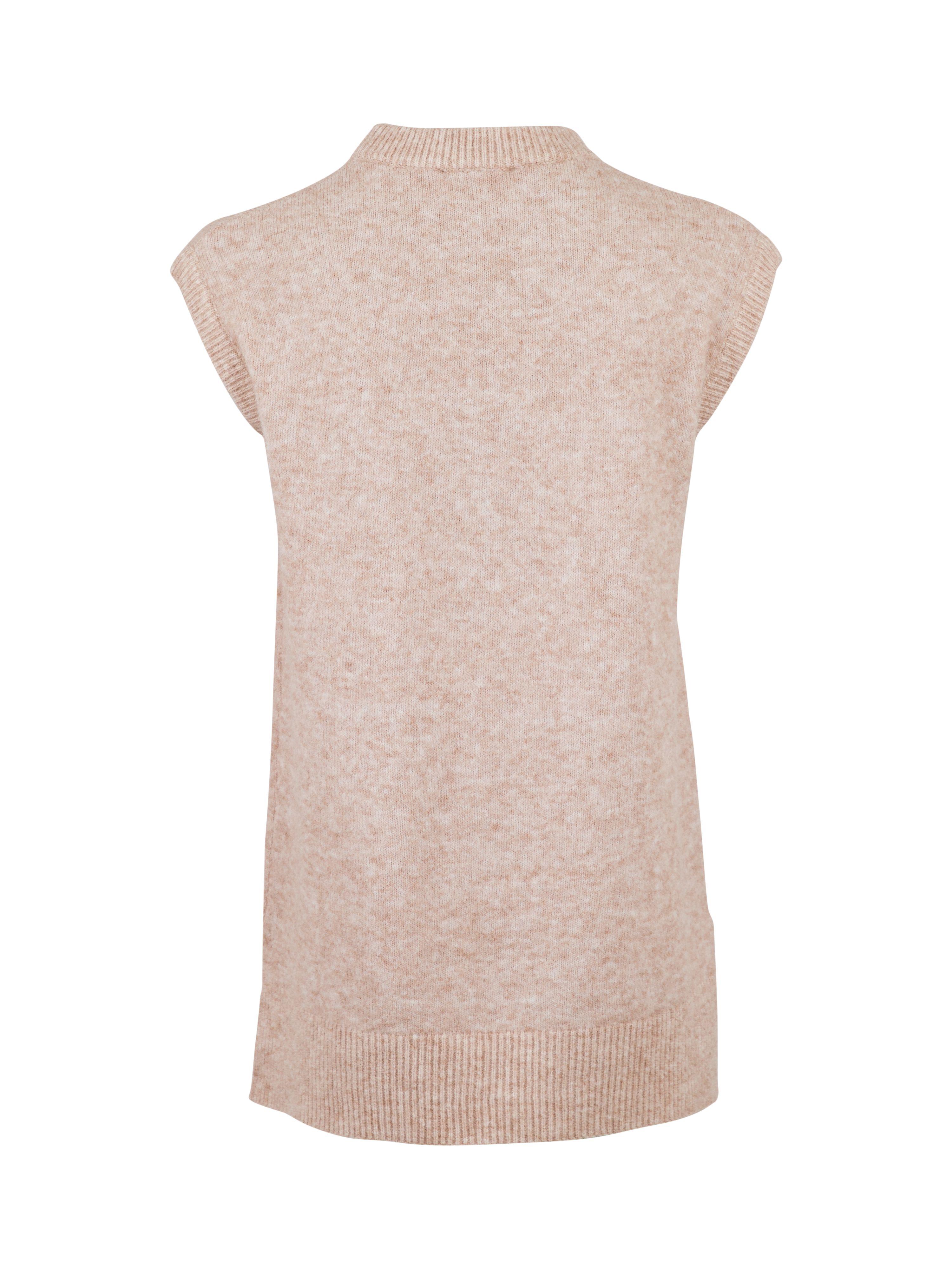 Neo Noir Natascha Knit waistcoat, beige melange, x-small