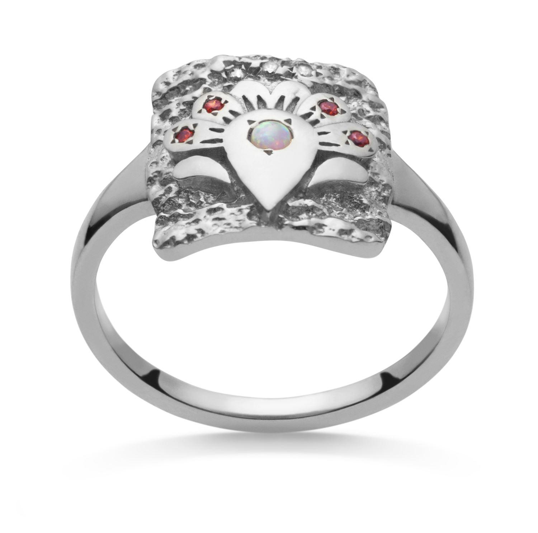 Maanesten Flora ring, sølv, 55
