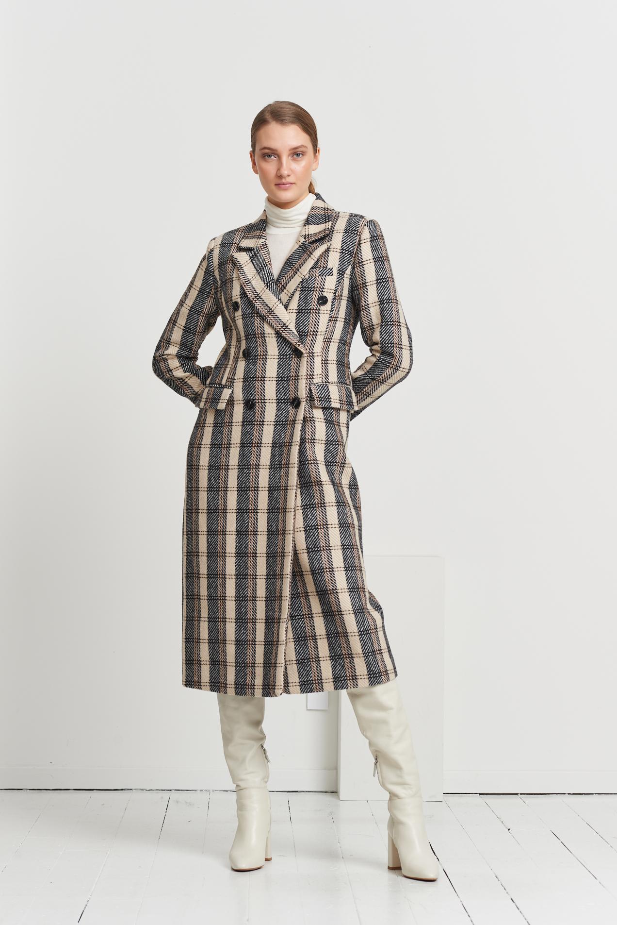 Bruuns Bazaar Laur Lindine frakke, brown check, 42