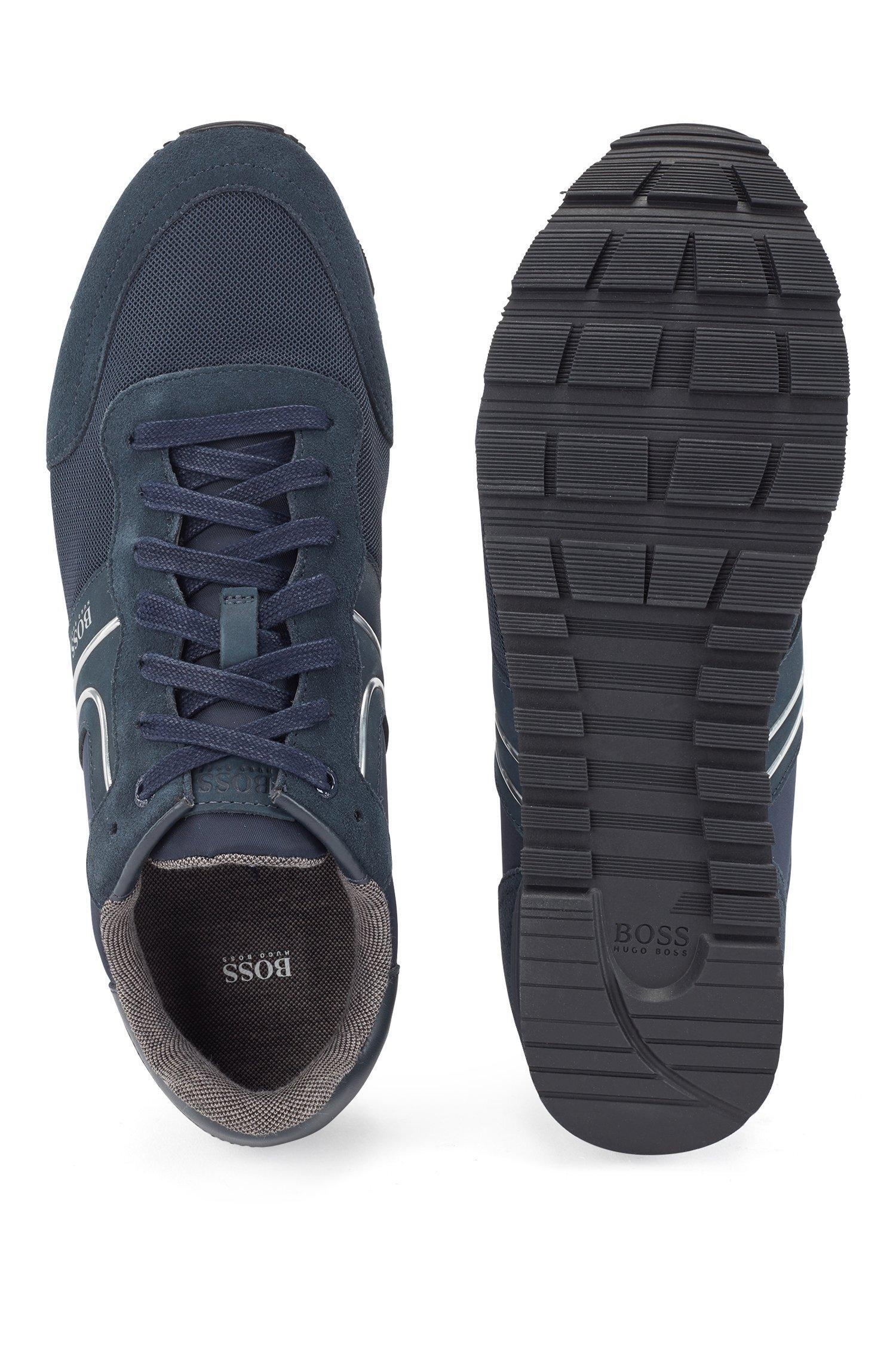 Hugo Boss Running-style sneakers, dark blue, 44