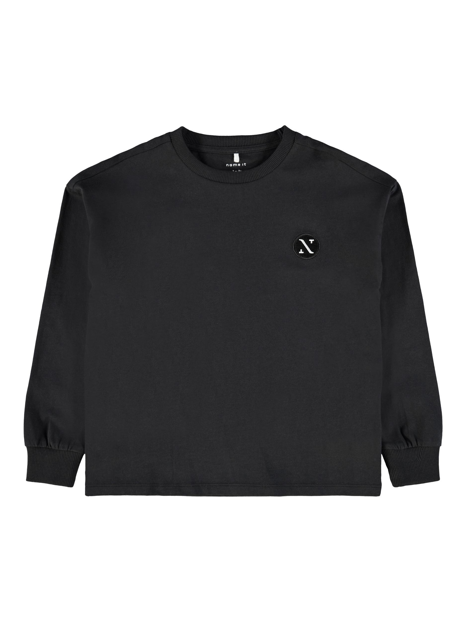 Name It Balder LS t-shirt, black, 122-128