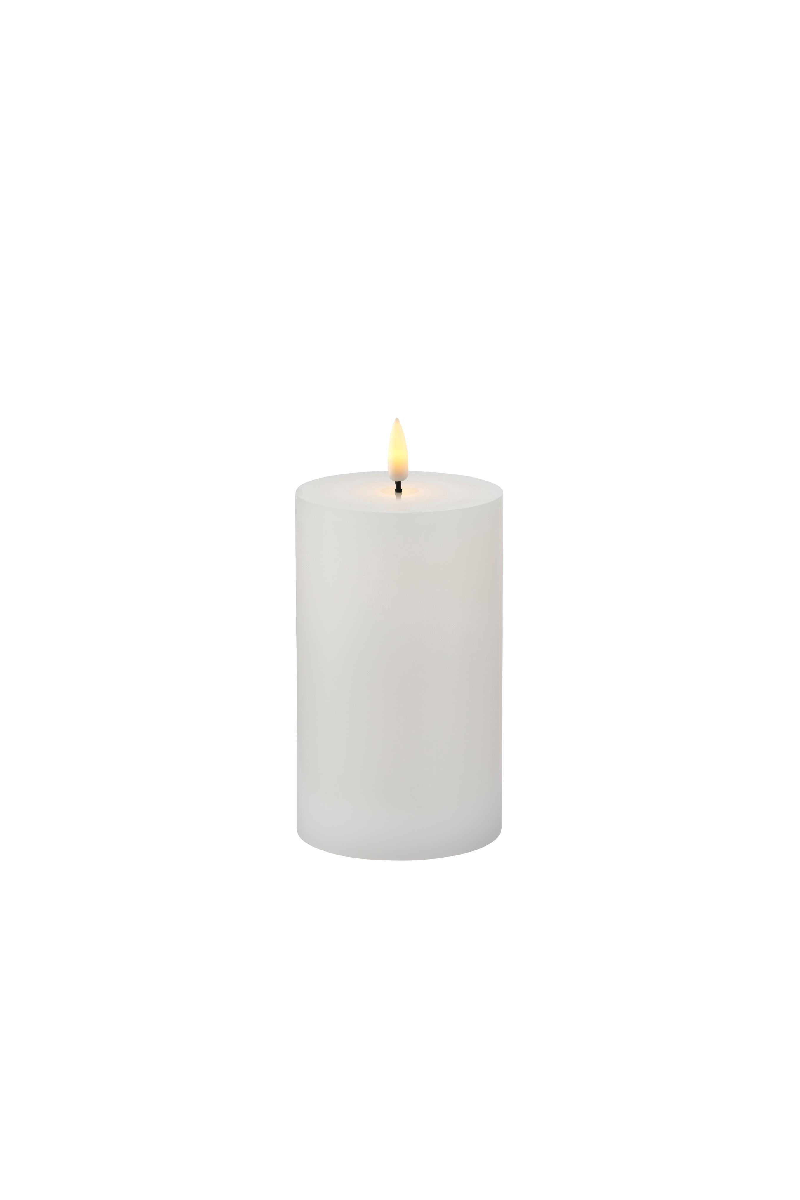 Sirius Sille genopladelig lys, 7,5x12,5 cm, hvid