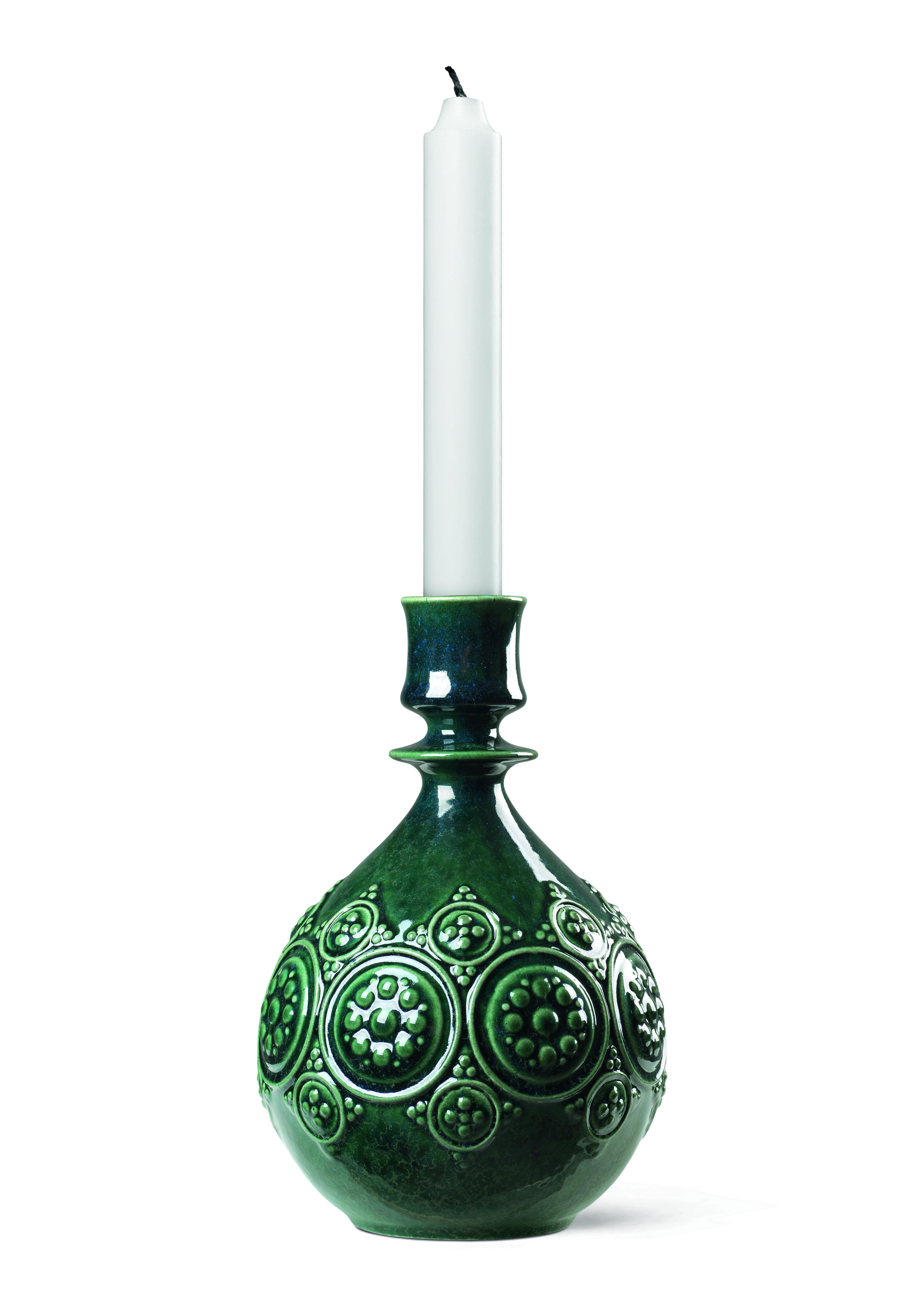 Björn Wiinblad Symphony Magic lysestage, 18 cm, mørk grøn