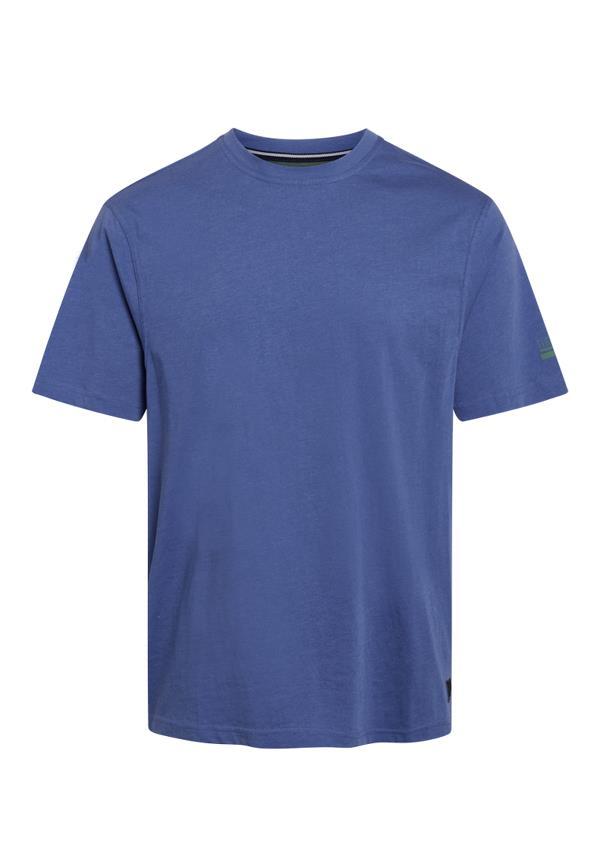 Signal Eddy Organic t-shirt, true blue melange, xxx-large
