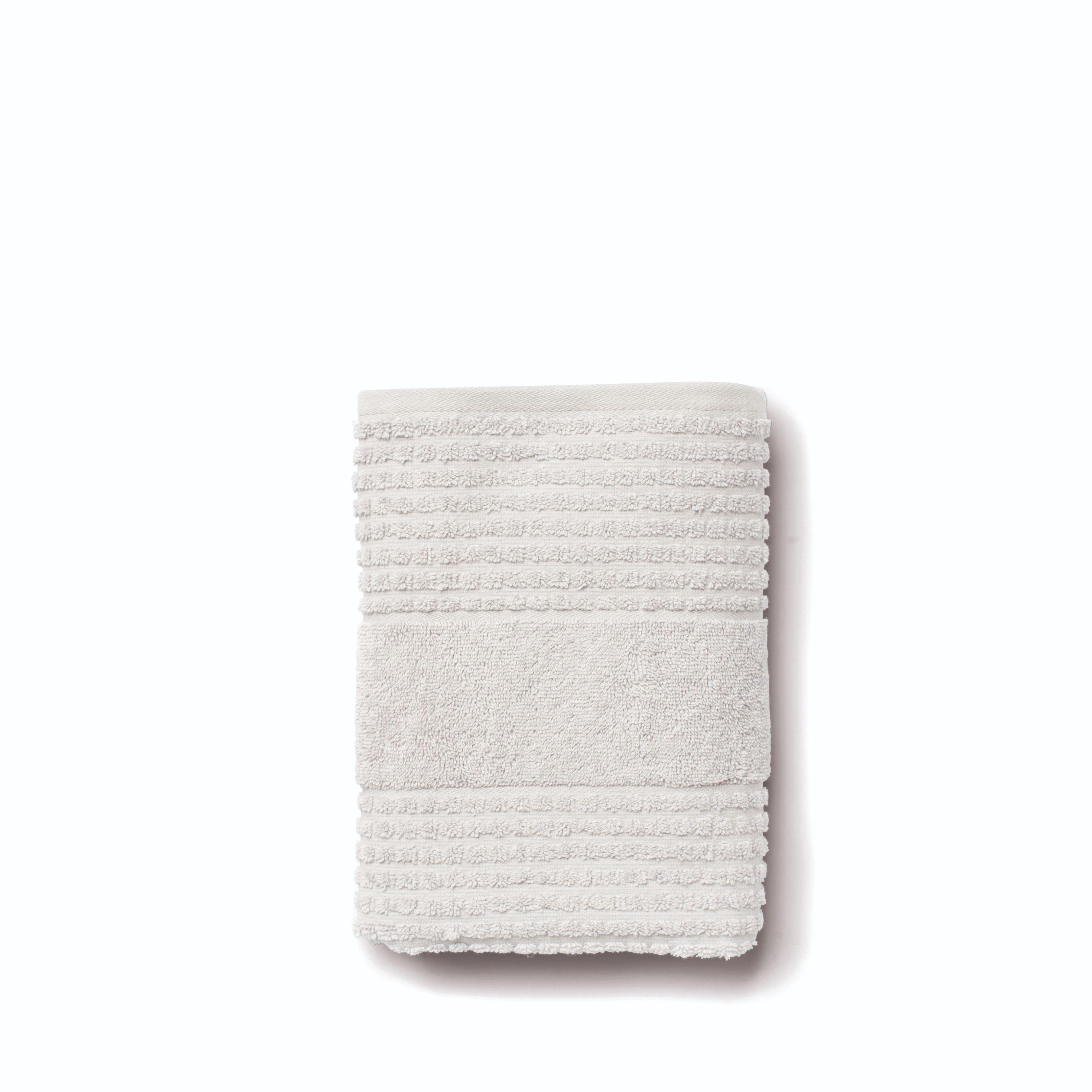 Juna Check håndklæde, 50x100 cm, lys grå