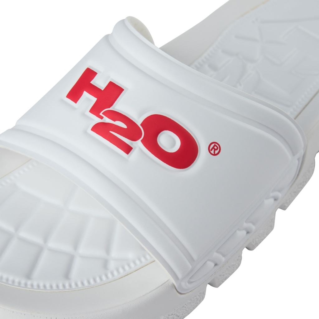 H2O badesandal, white/red, 44,5