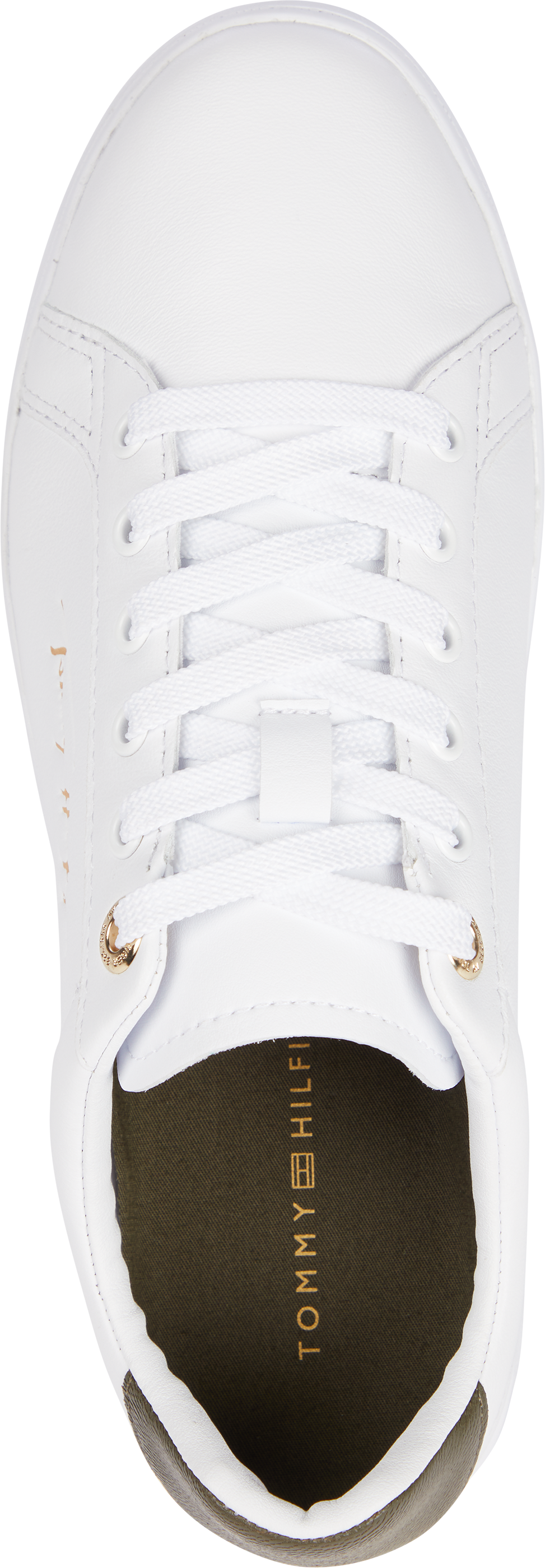 Tommy Hilfiger Signature Court sneakers, white/army green, 41