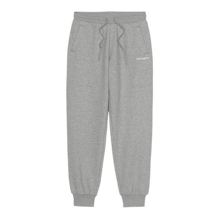 Carhartt W' Script Embroidery sweatpants, grey heather, XS