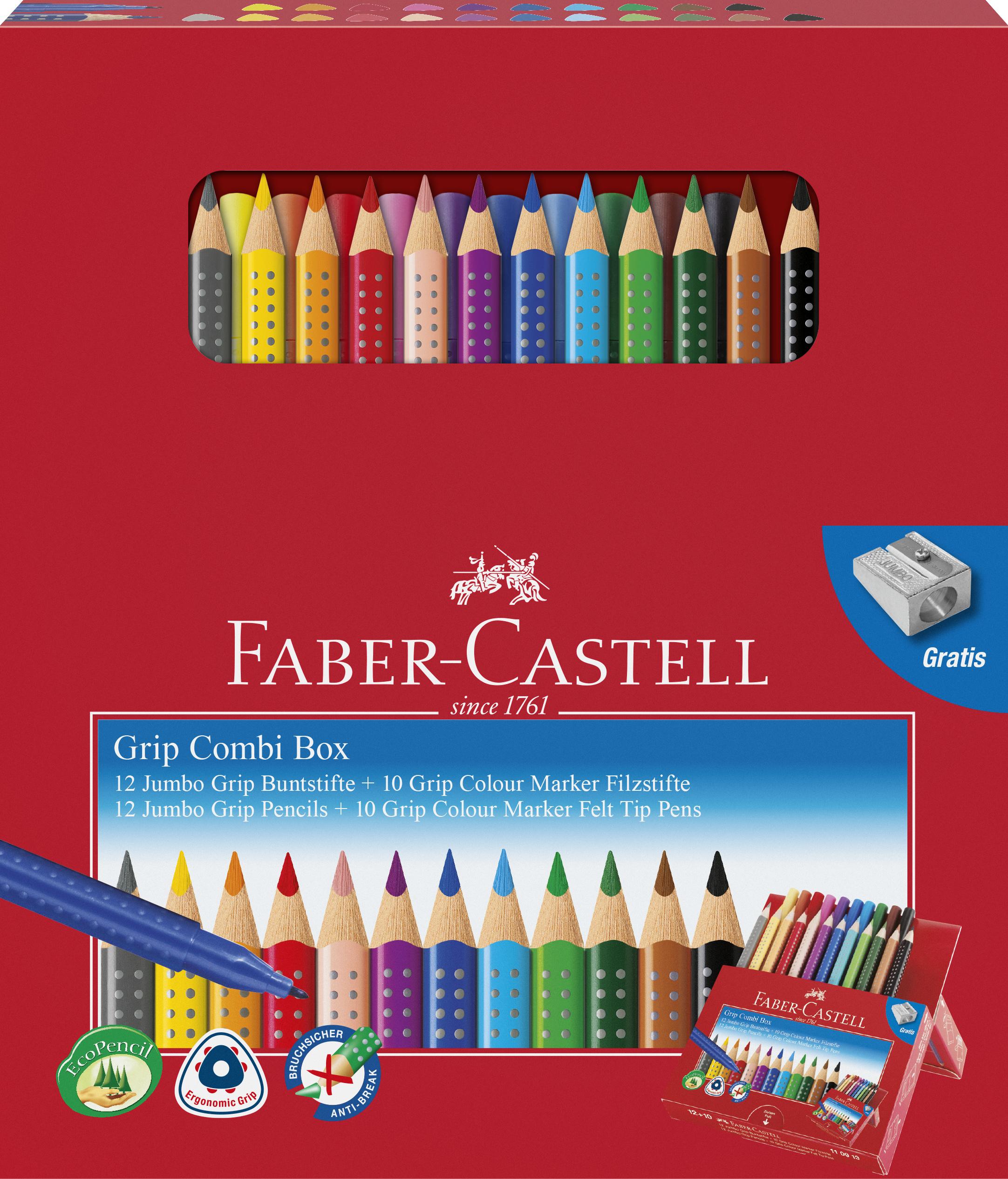 Faber-Castell Grip Combi Box, 22 stk.