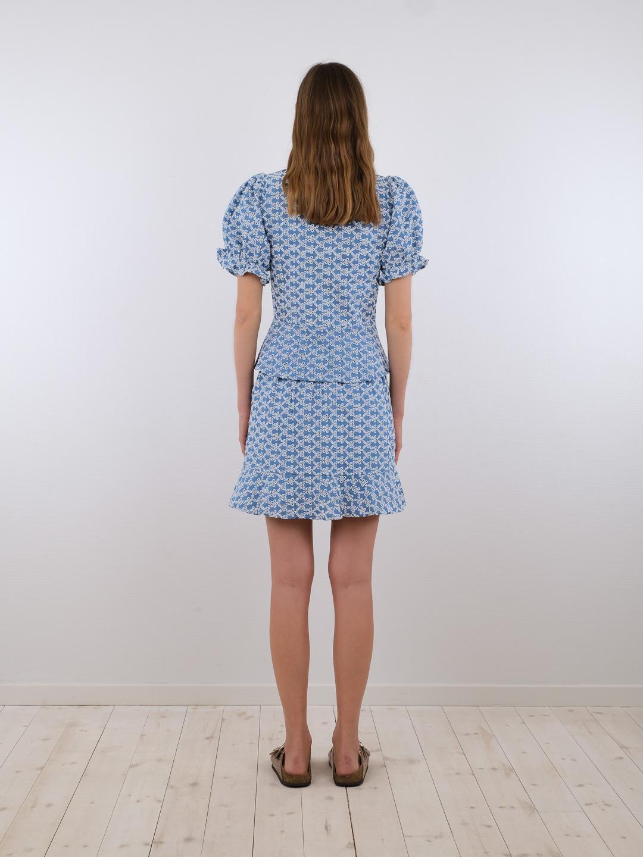 Neo Noir Bekka Emb Chambray nederdel, blue, 40
