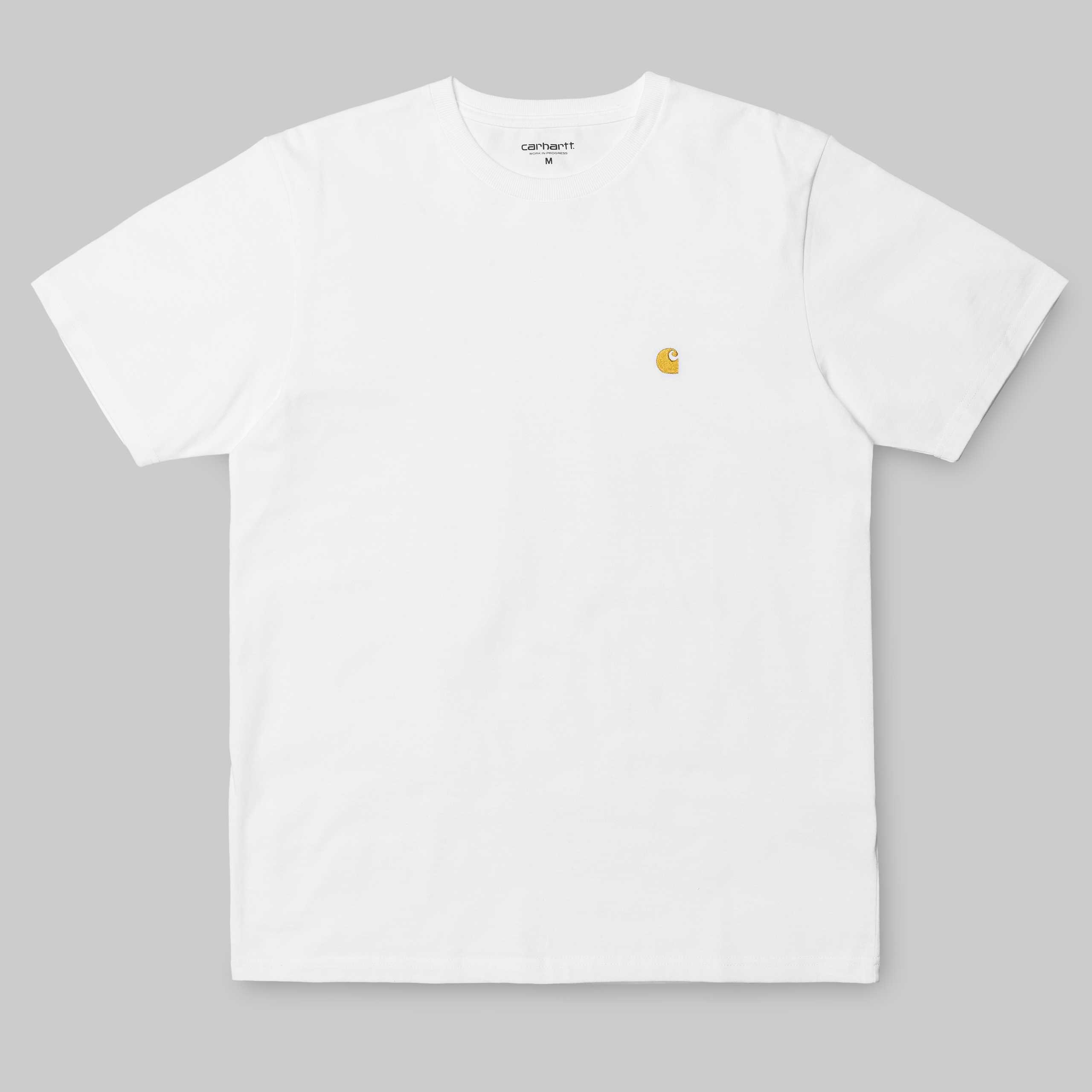 Carhartt S/S Chase t-shirt, white/gold, x-large