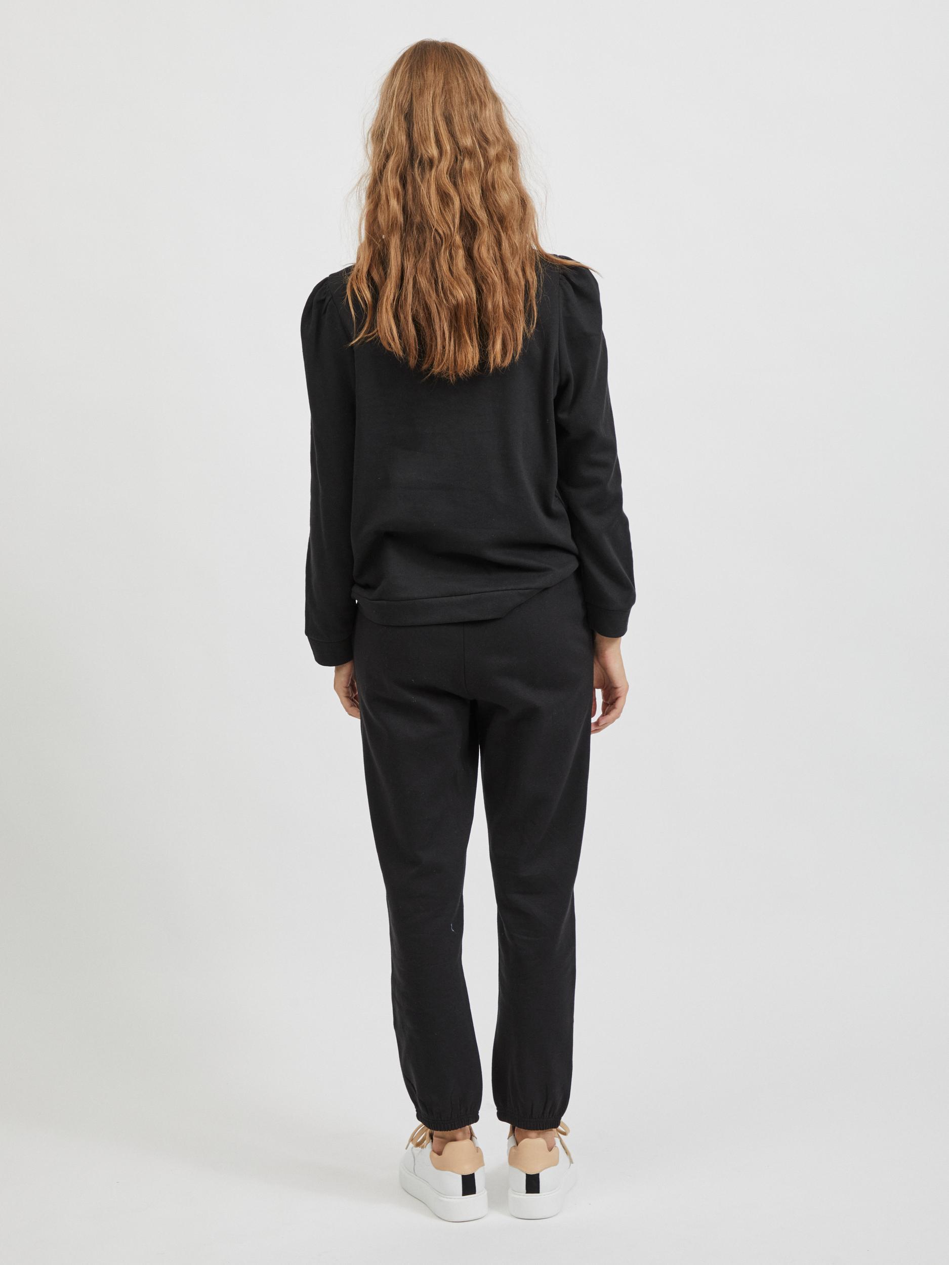 VILA Rustie sweatshirt, Black, L