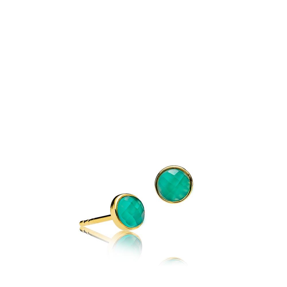 Izabel Camille Orient ørestikkere, guld/grøn/onyx