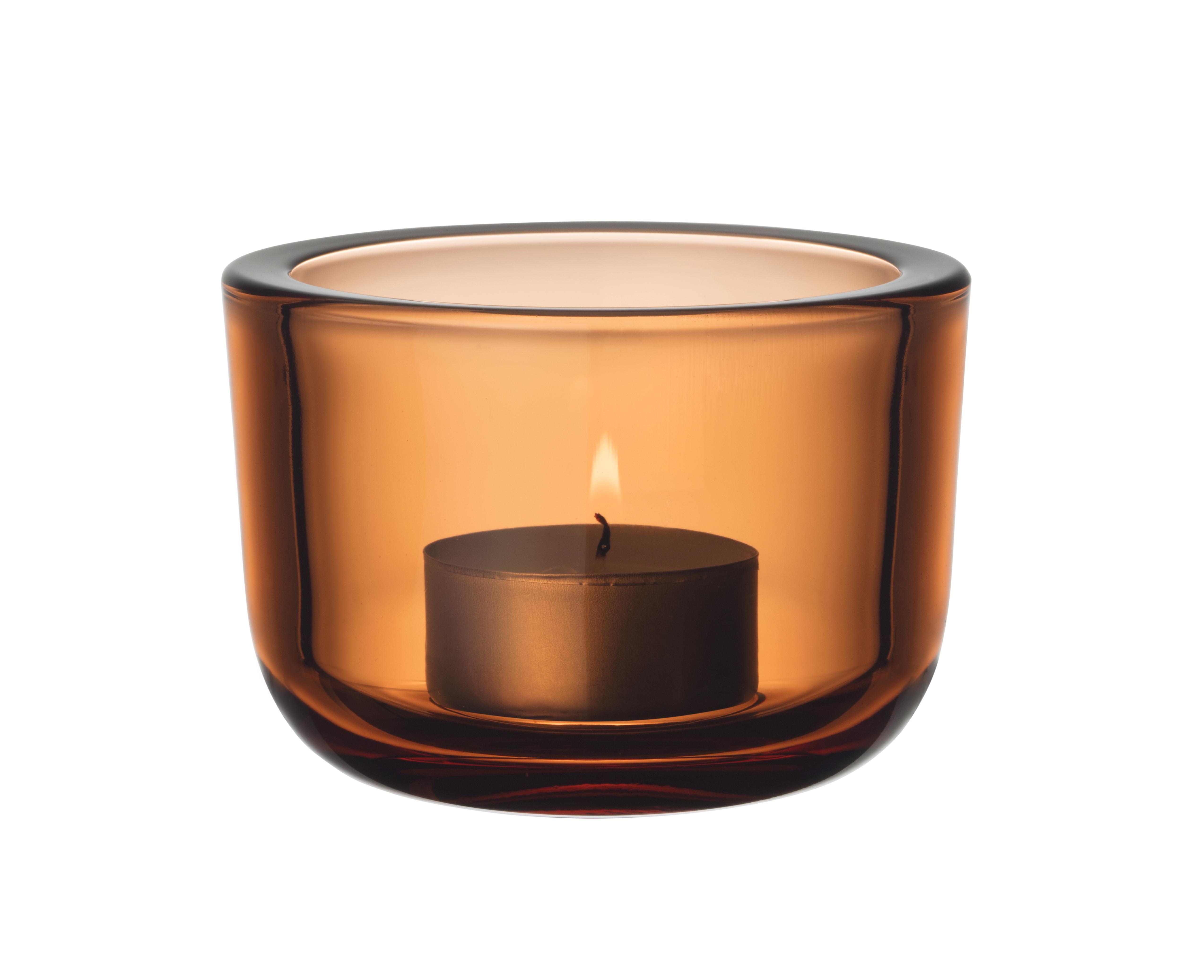 Iittala Valkea fyrfadsstage, 6 cm, orange