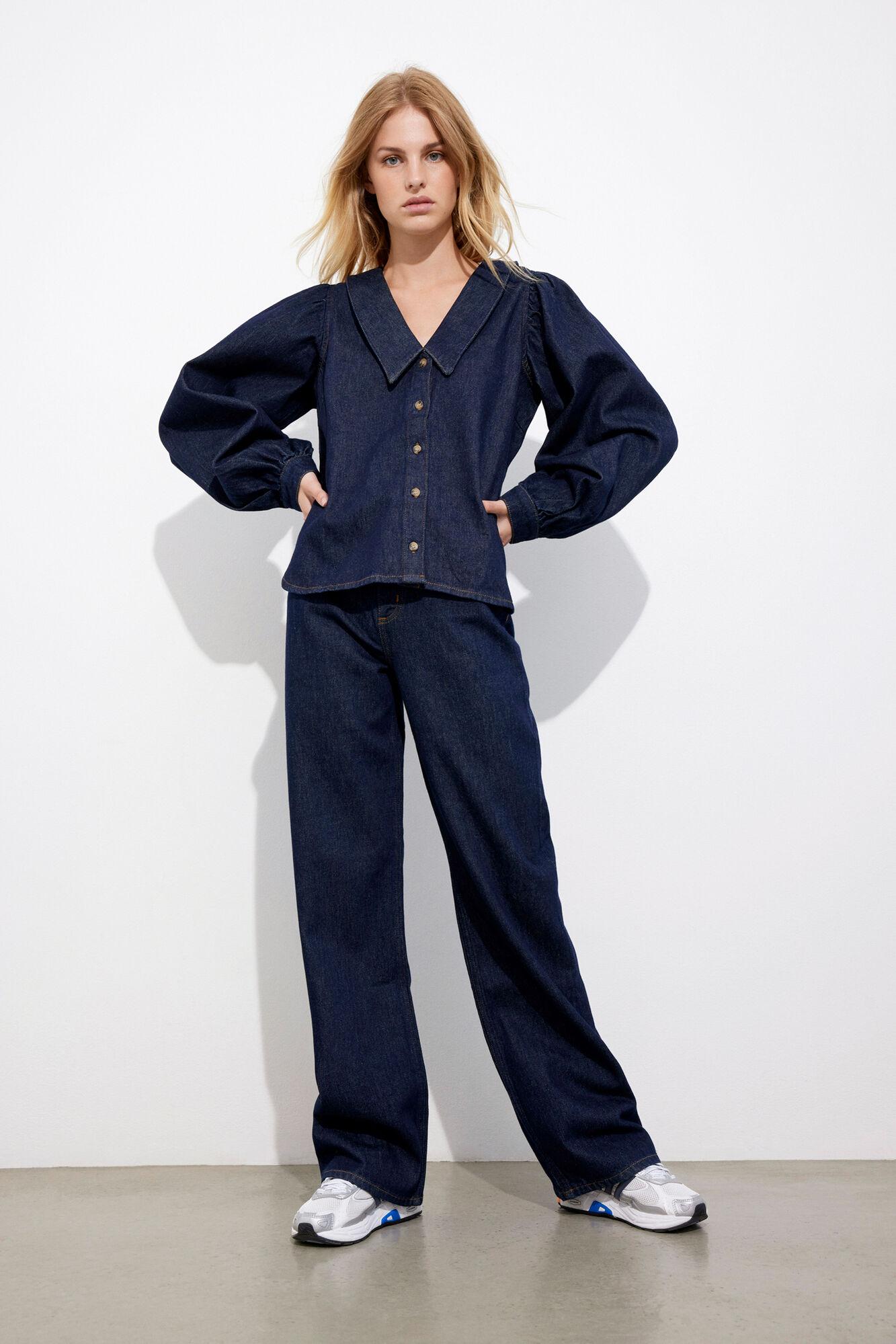 Envii EnHimalaya Skjorte, Dark Blue Rinse, M