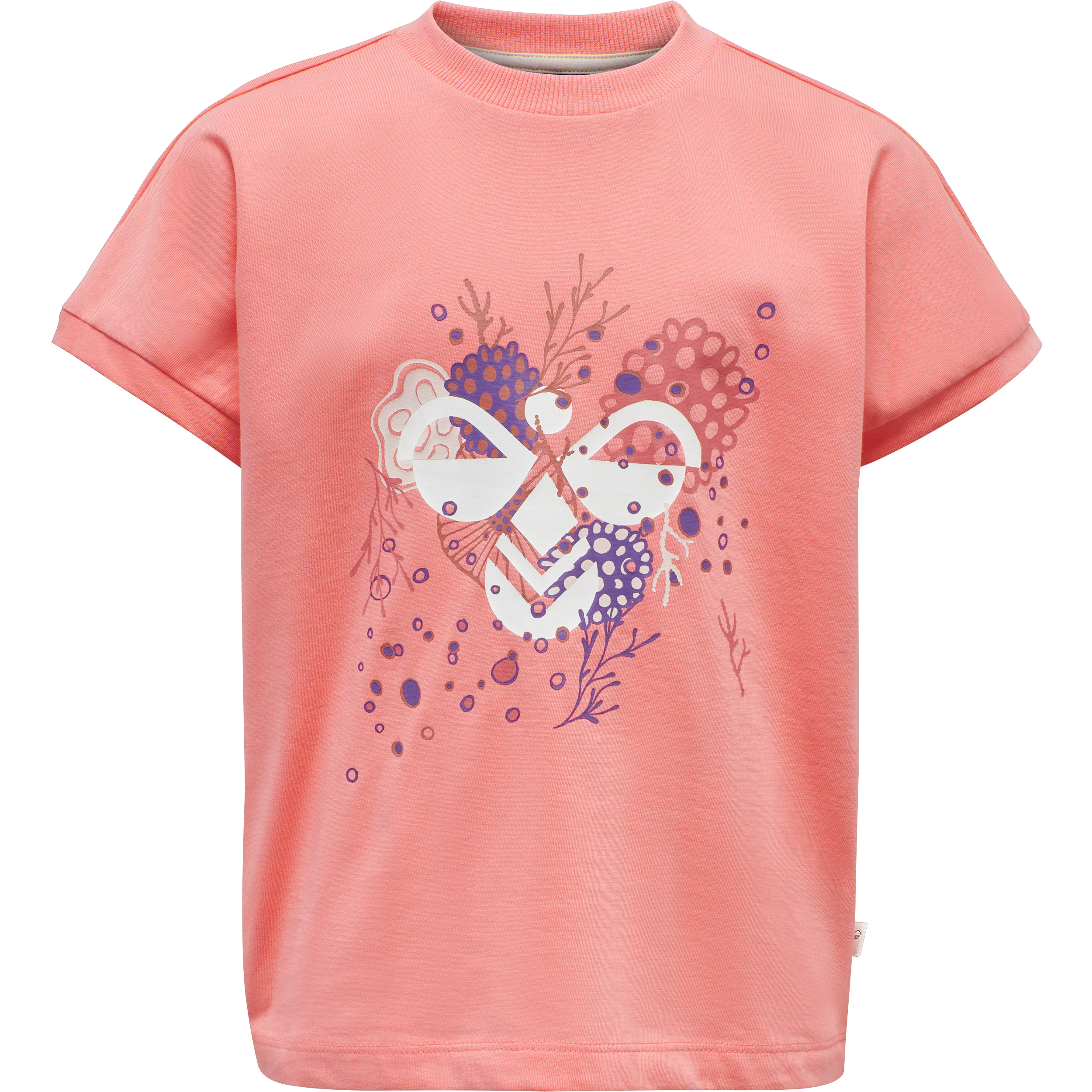 Hummel Atlantis SS t-shirt, Shell pink, 116