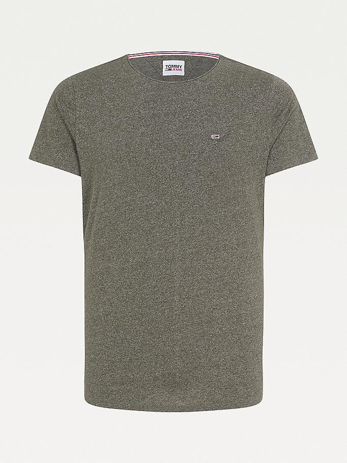 Tommy Hilfiger Woven Slim Fit t-shirt, dark olive, large