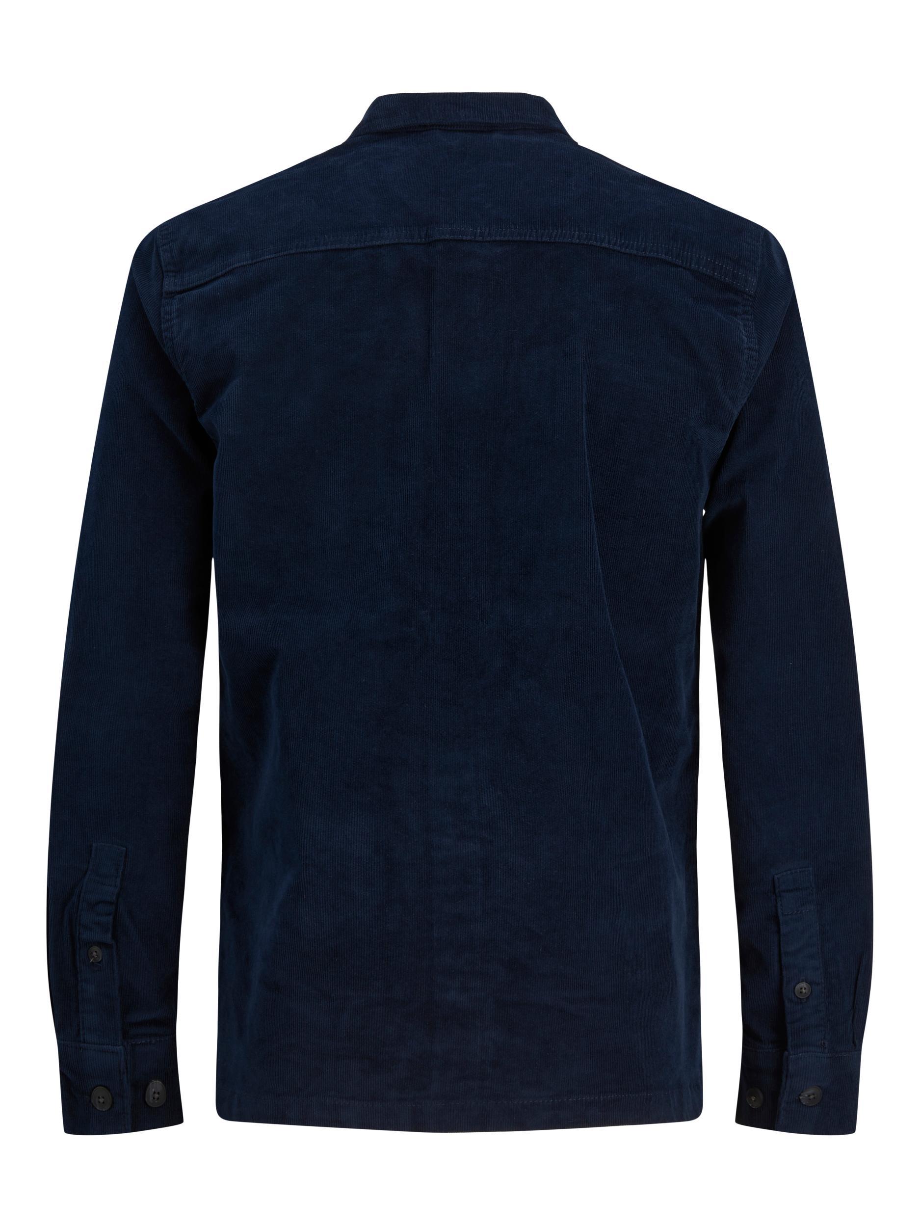 Jack&Jones Fløjls Overshirt, Navy Blazer, XX-large