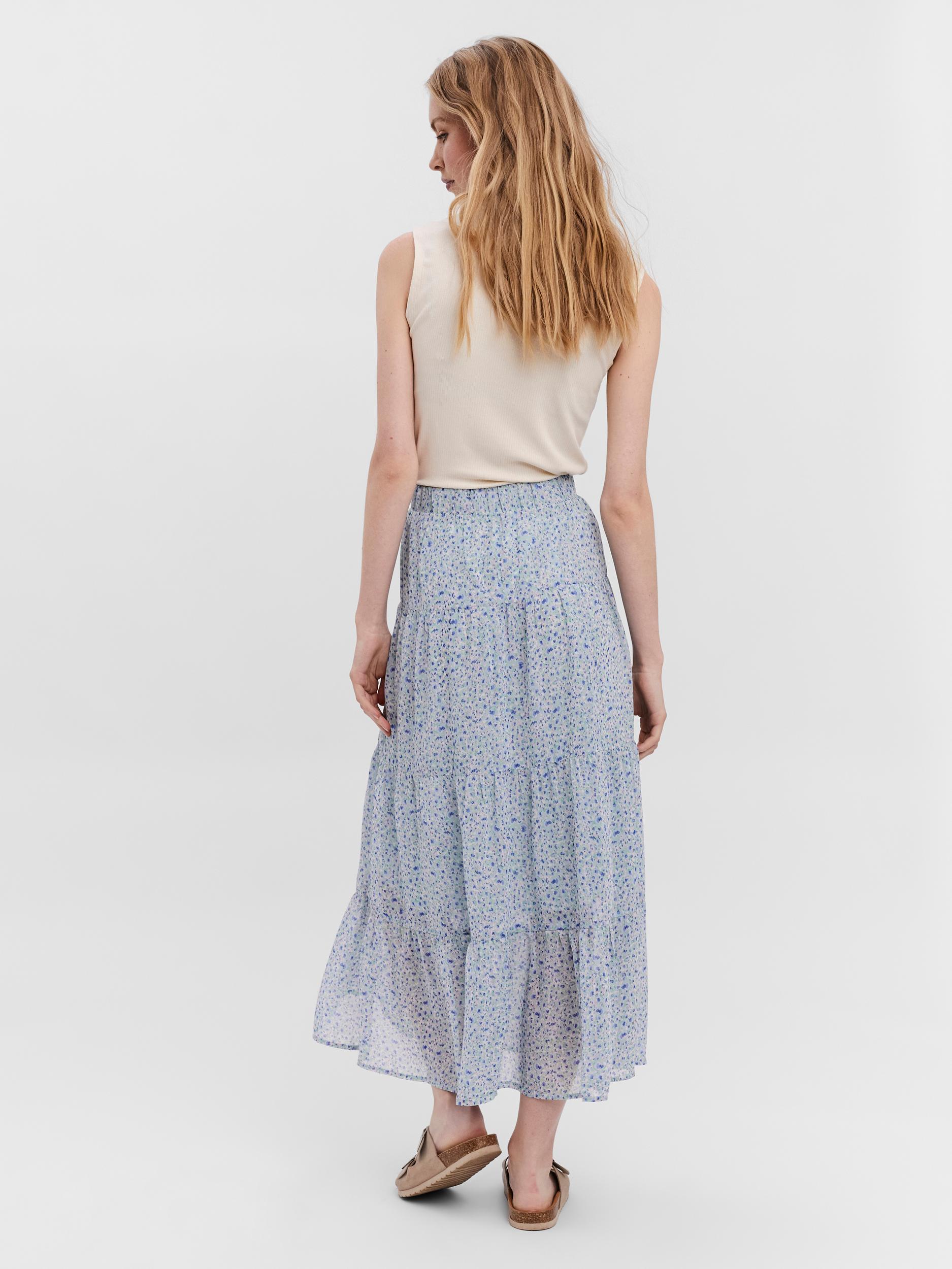 Vero Moda Minna Ankel nederdel, light blue, medium