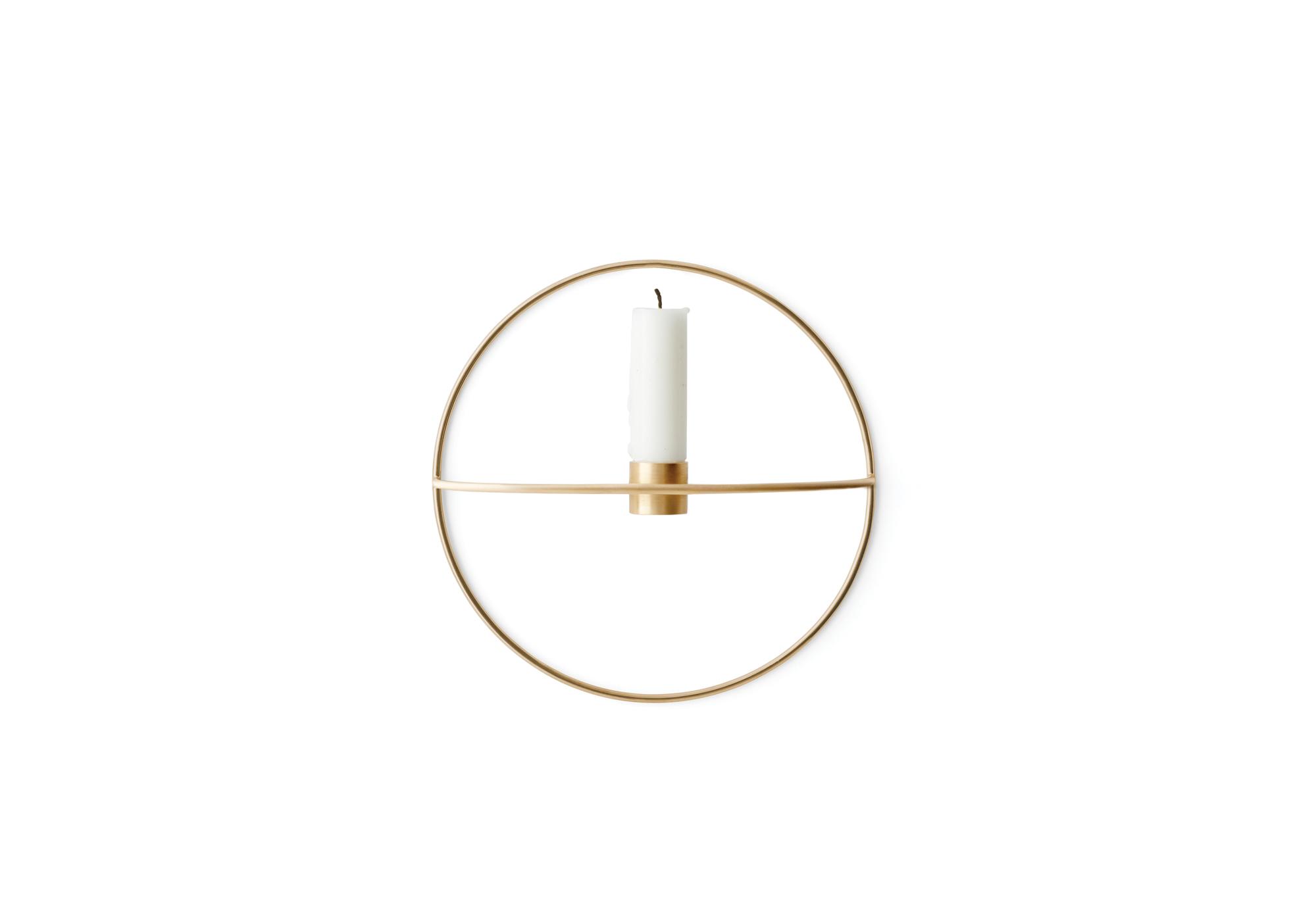 Menu POV Circle væglysestage, brass