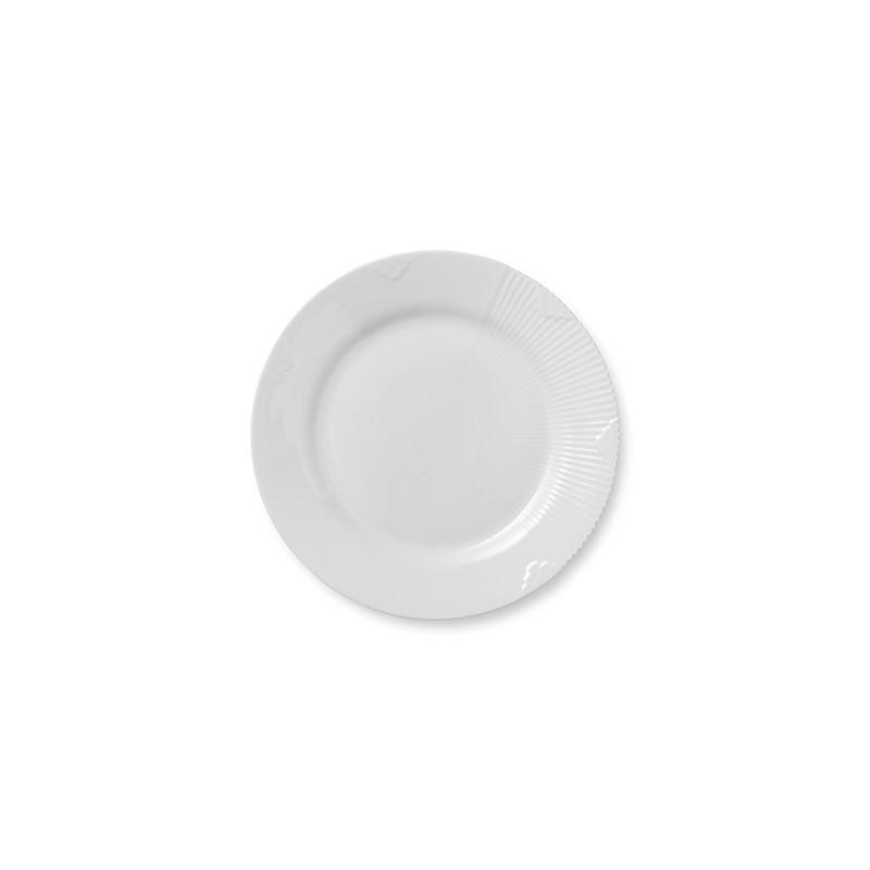 Royal Copenhagen Hvid Elements frokosttallerken, Ø22 cm