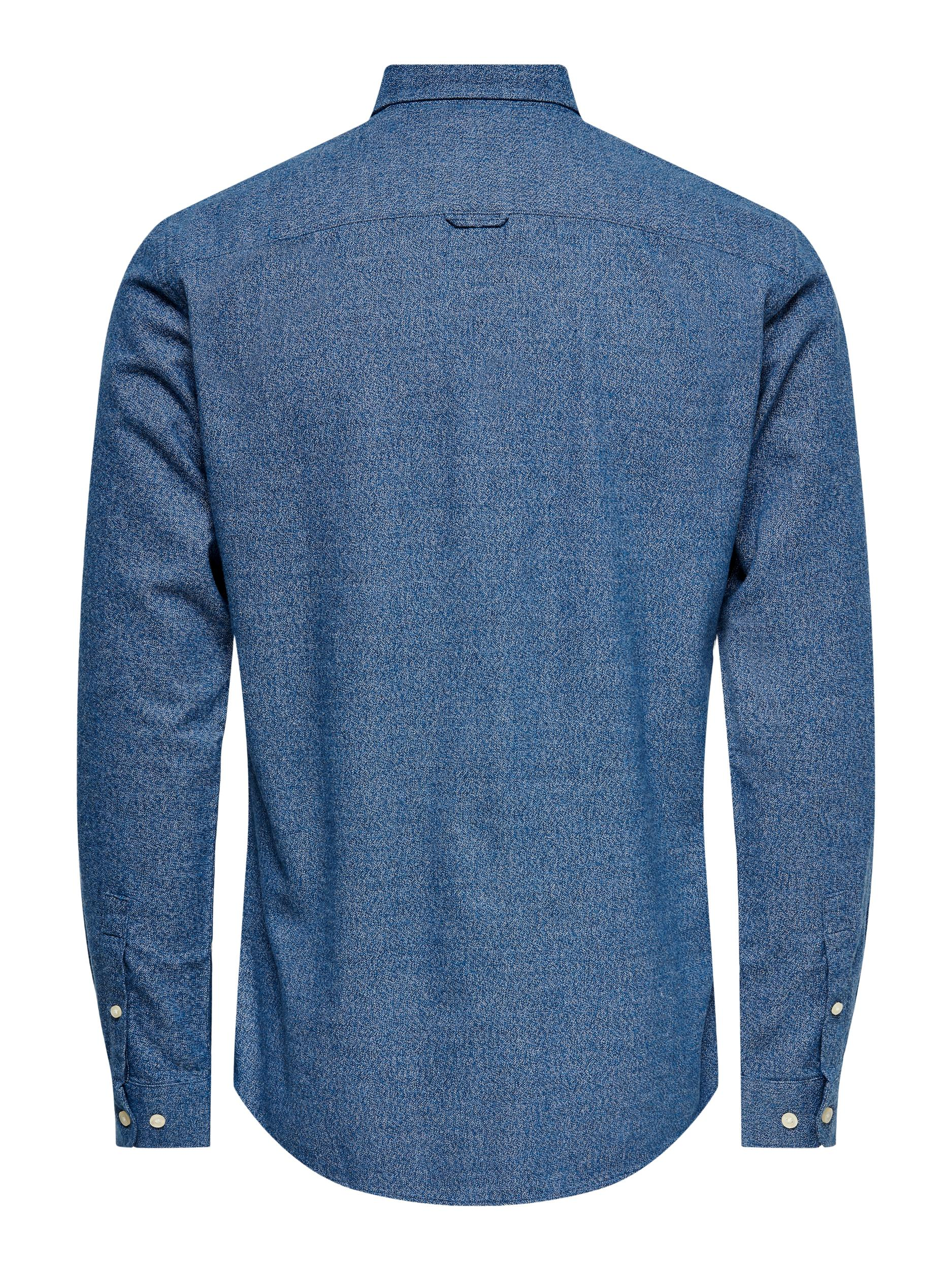 Only and Sons Niko LS skjorte, Dress Blue, Medium