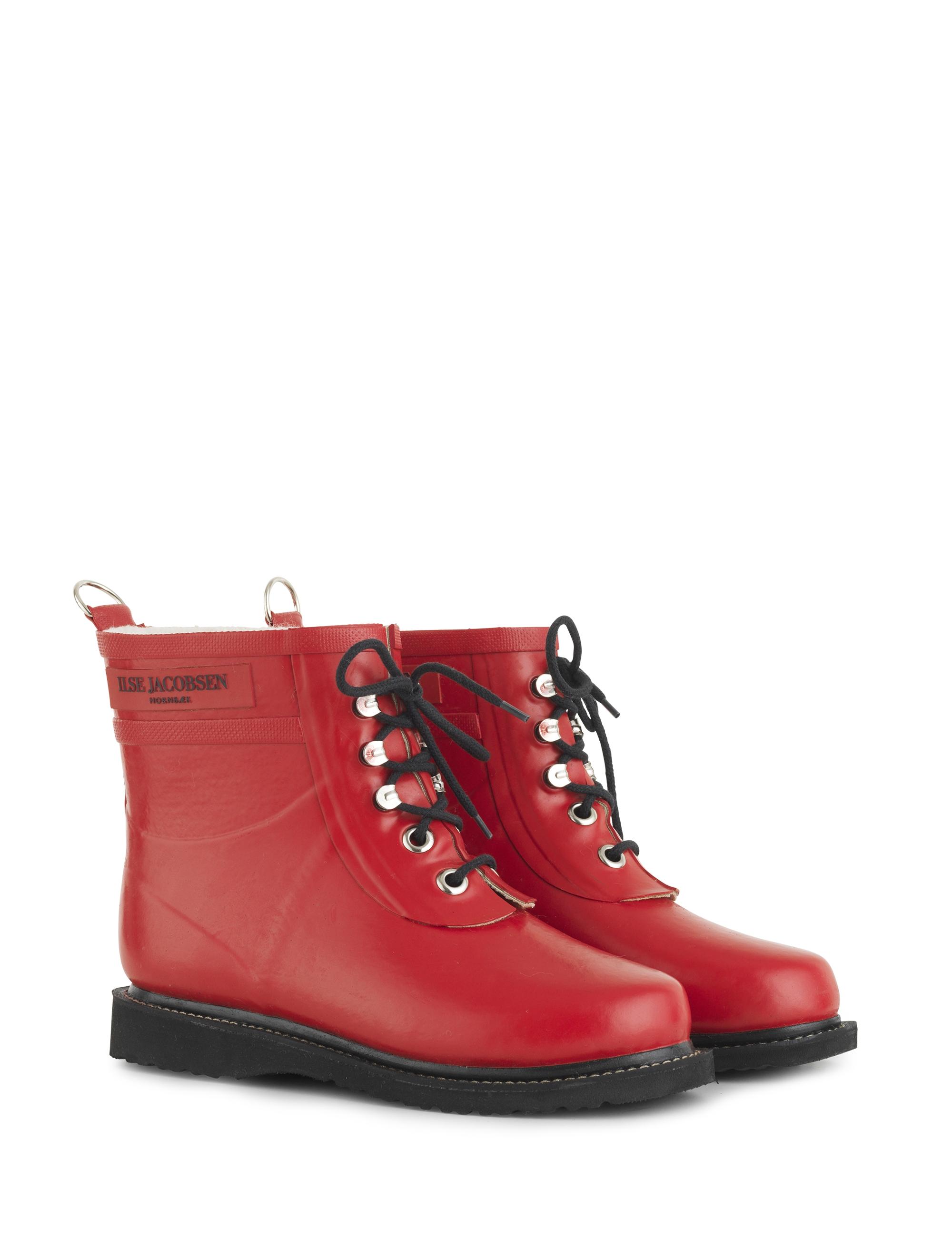 Ilse Jacobsen gummistøvle, kort, deep red, 36