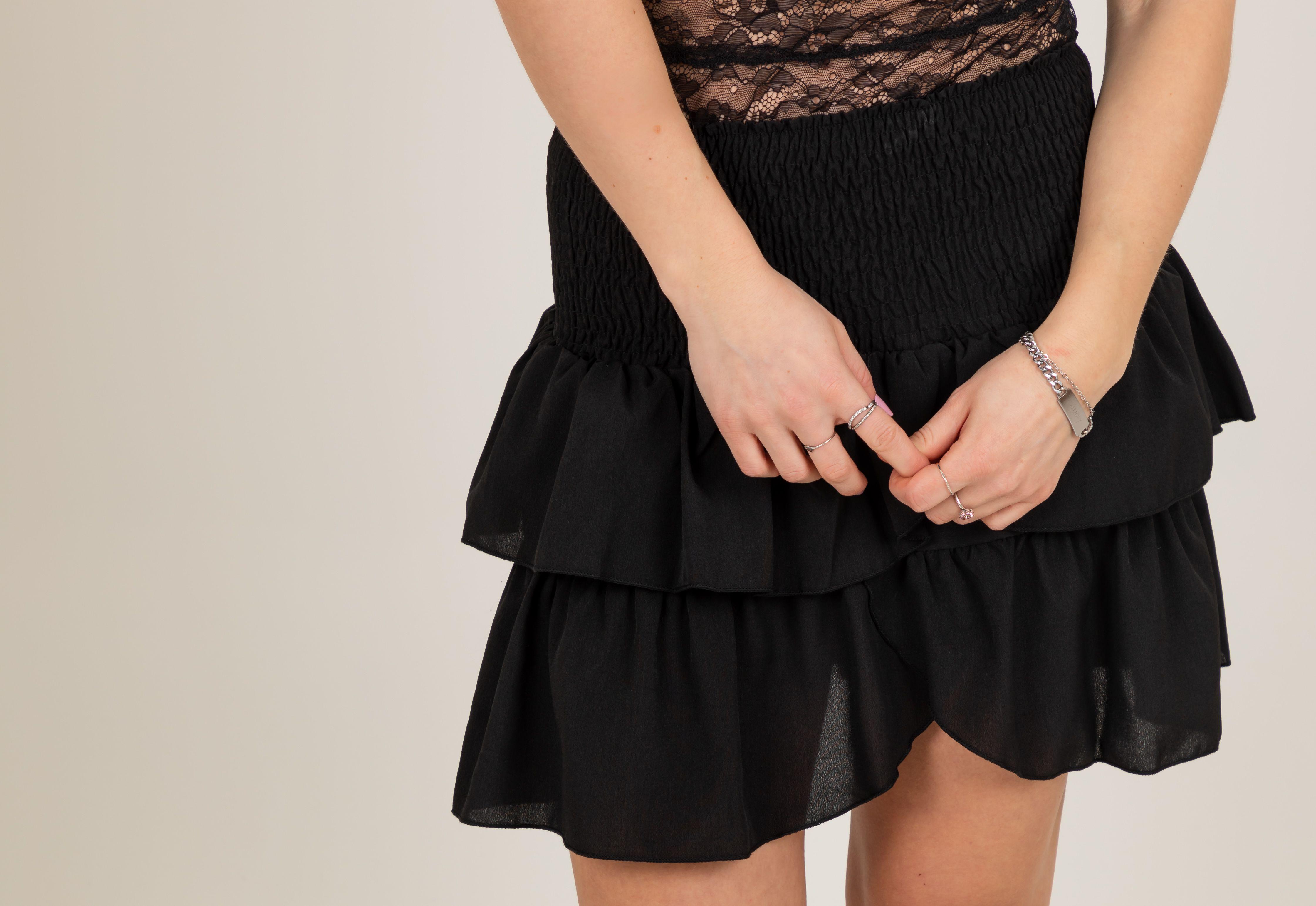Neo Noir Carin skirt, black, x-small
