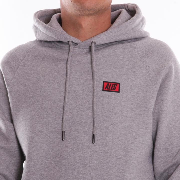 ALIS Classic Logo hættetrøje, heather grey, large