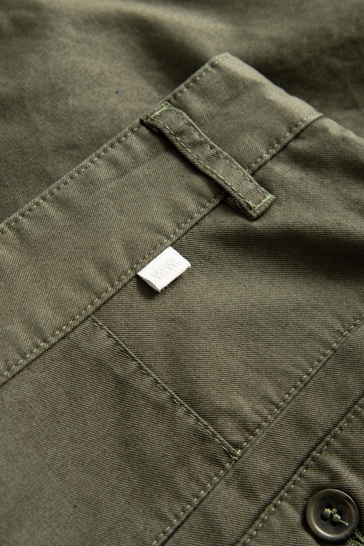 Wood Wood Jonathan Light Twill shorts, olive, 36