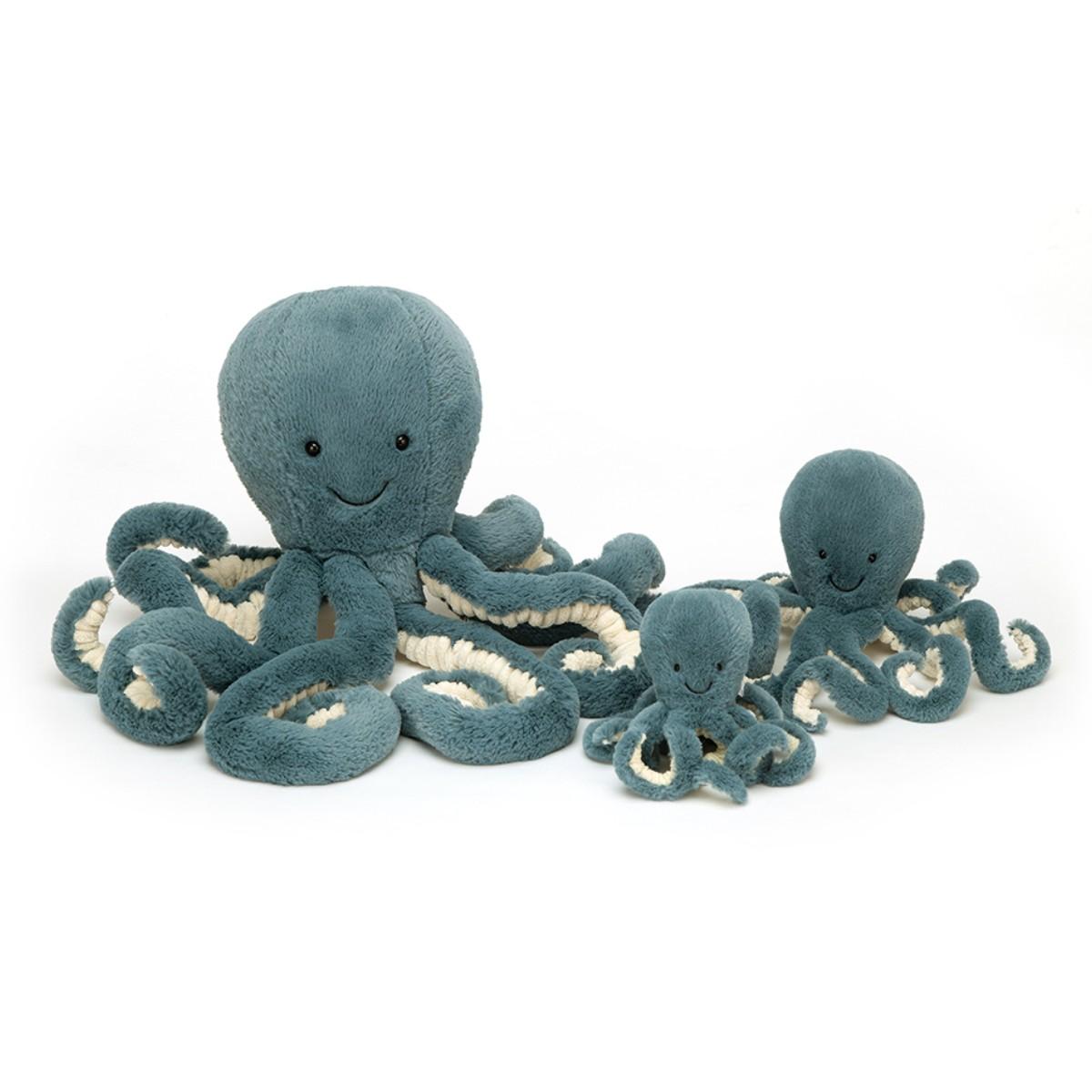 Jellycat, Storm blæksprutte lille, 23 cm