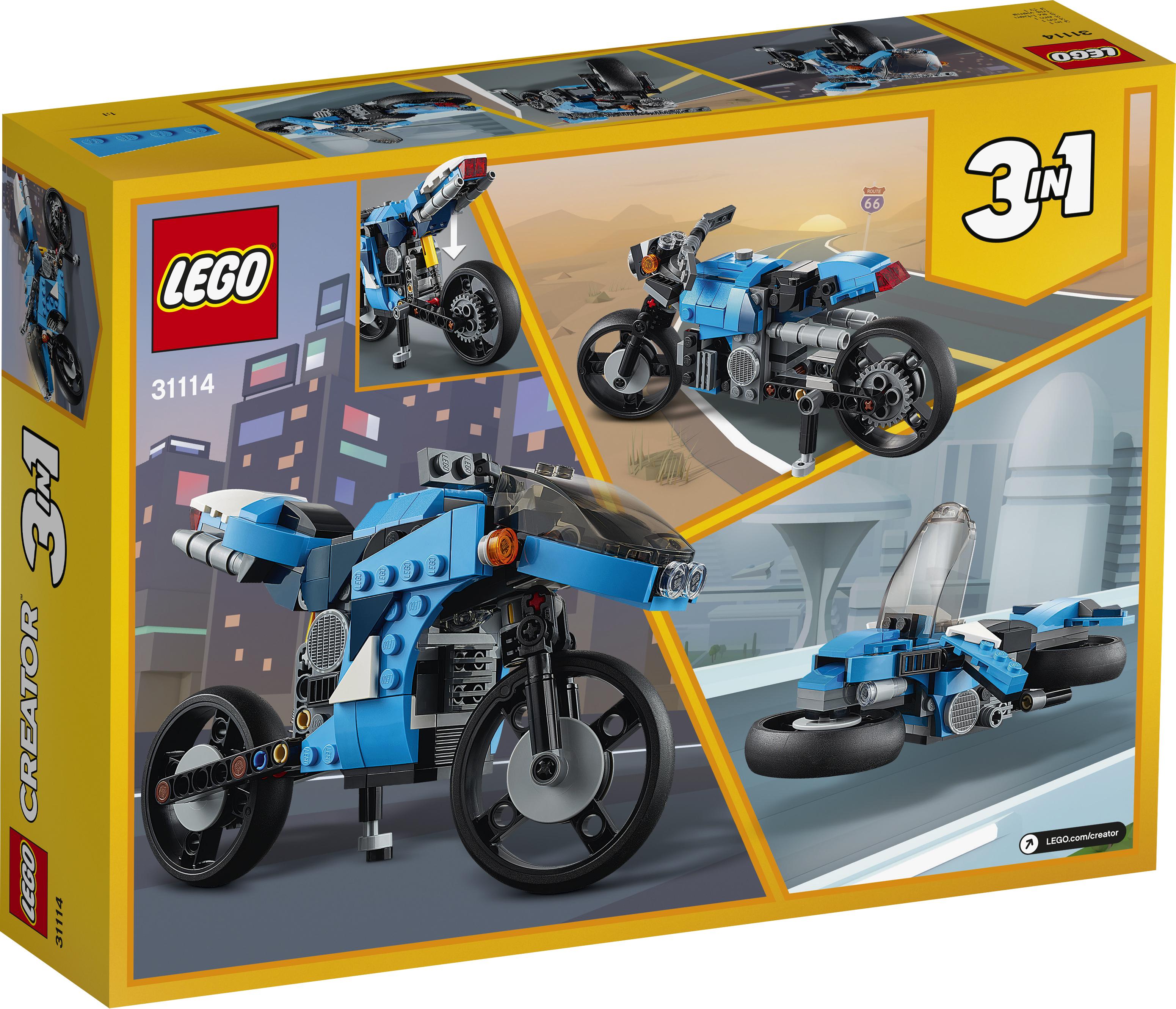 LEGO Creator Supermotorcykel - 31114