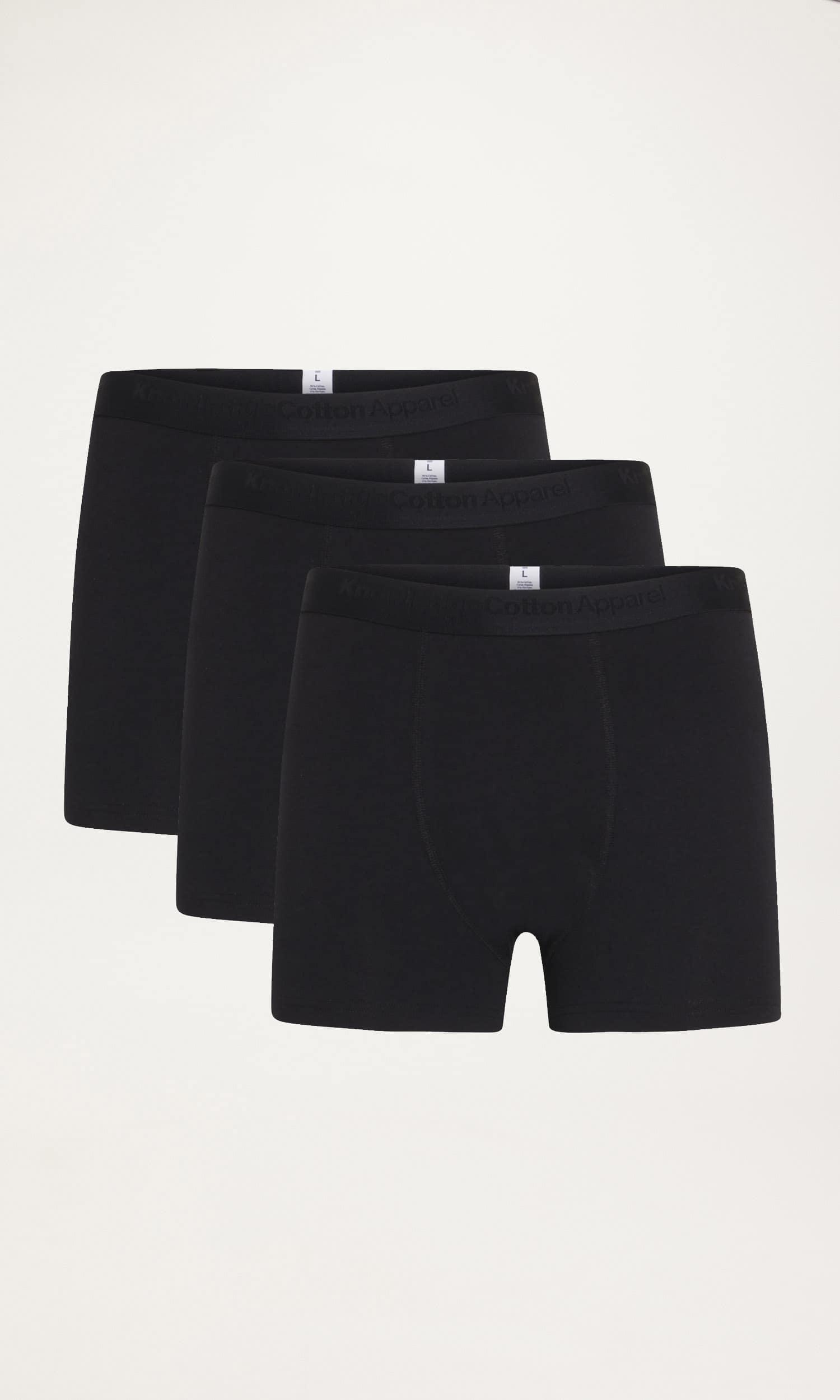 Knowledge Cotton Apparel Maple 3-pak underbukser, total eclipse, small