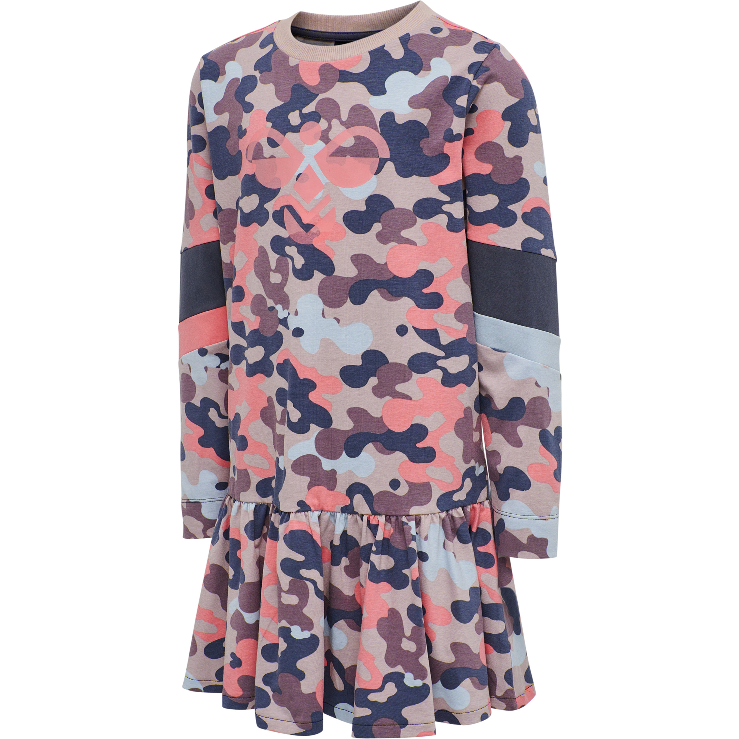 Hummel Hmlpolly langærmet kjole, bark, 128