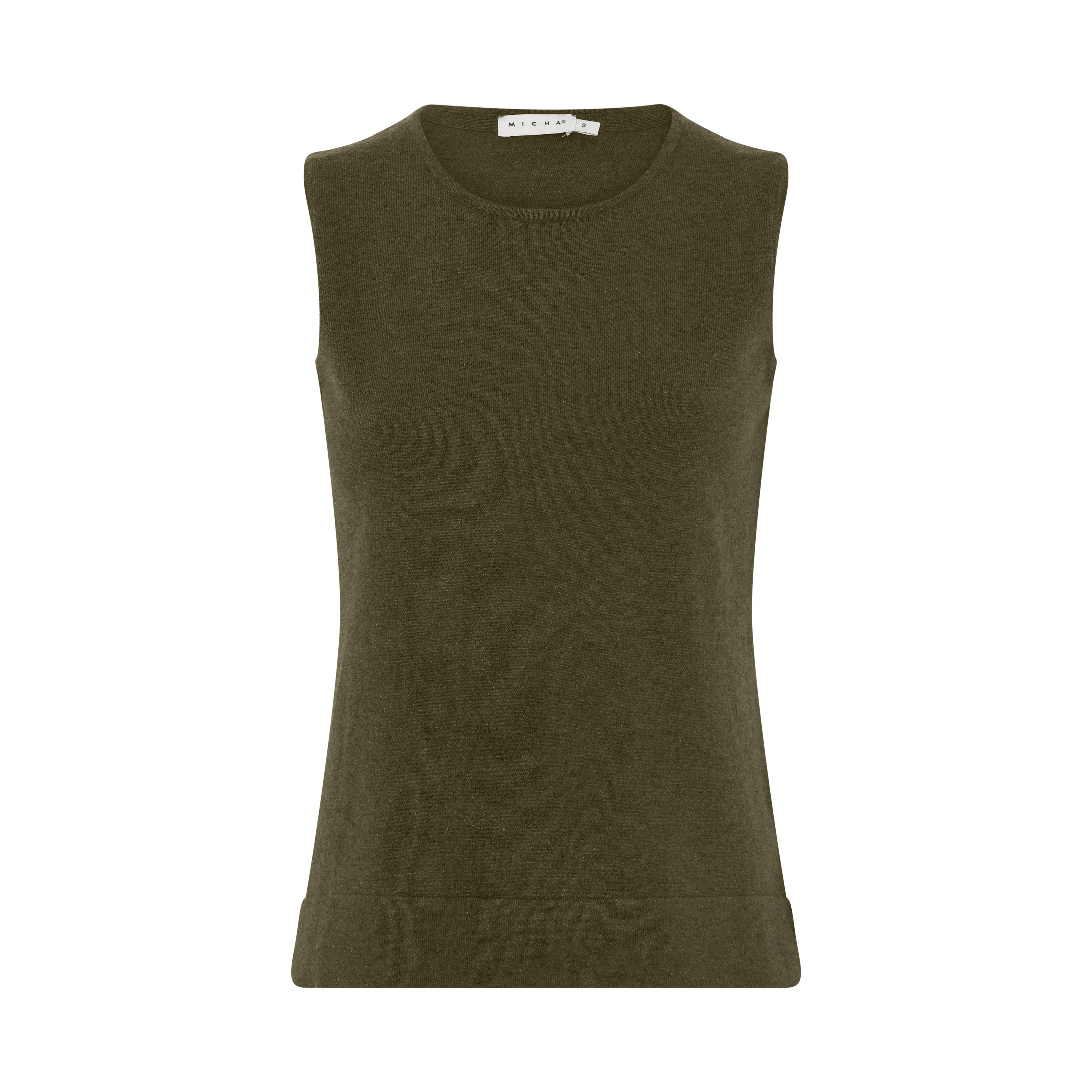 Micha Basic strikvest, Green Melange, L