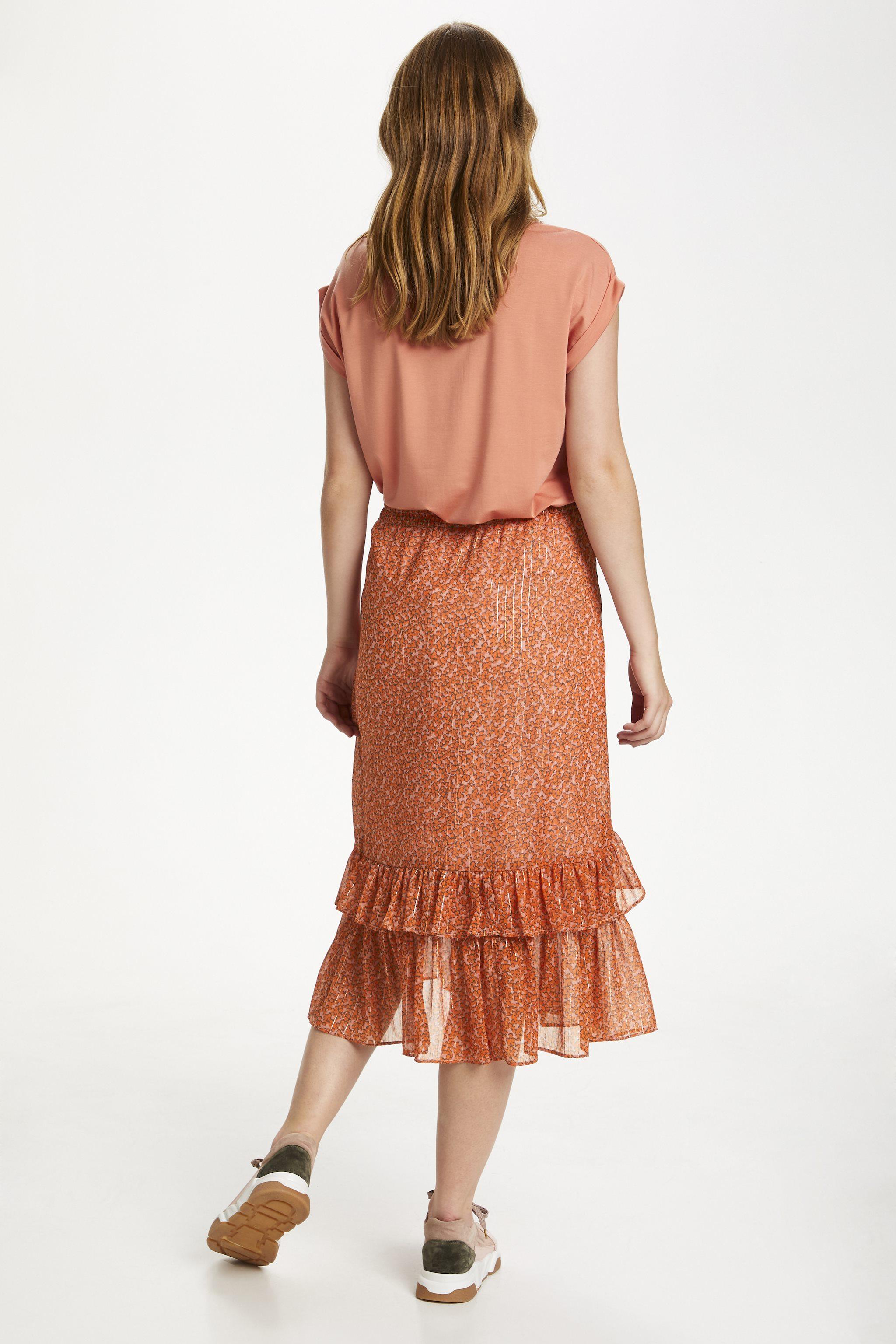 Saint Tropez Xelina nederdel, red orange puff sky, x-large