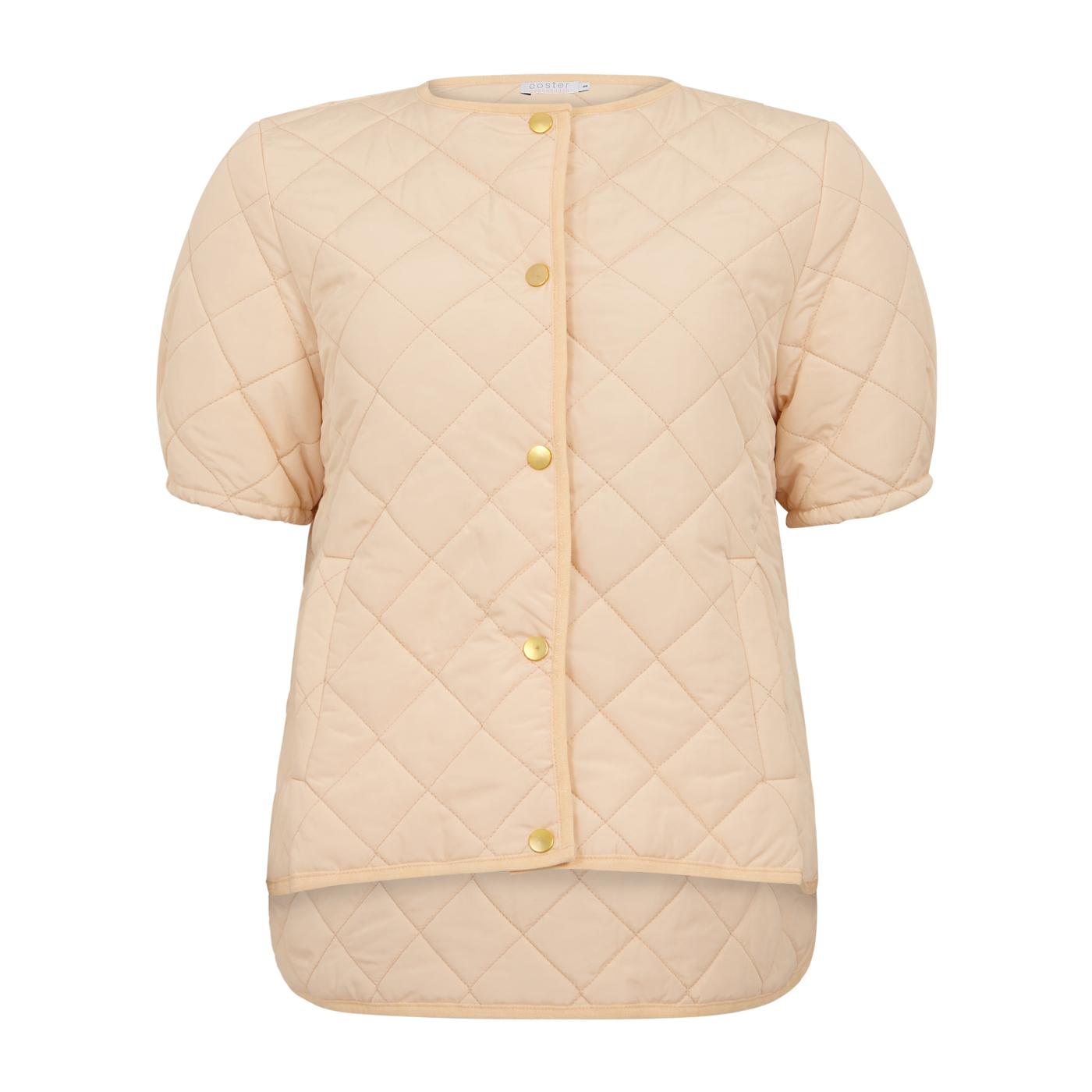 Coster Copenhagen Quiltet vest, cream, 36