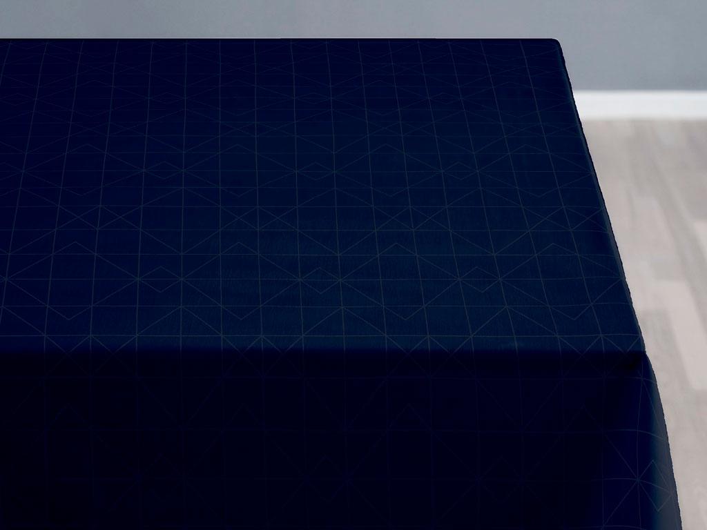 Södahl Refined organic damaskdug, 140x270 cm, indigo