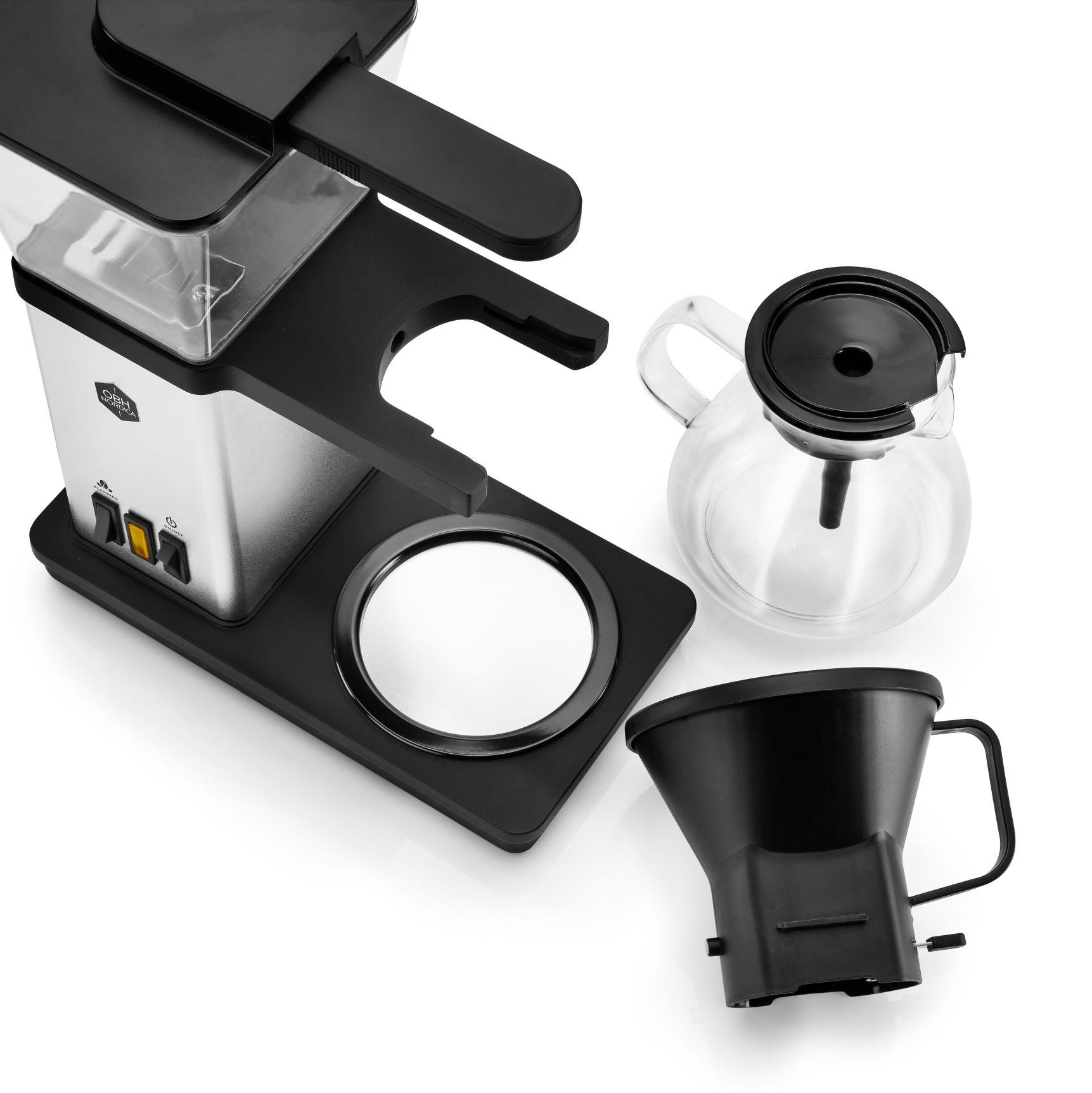 OBH Nordica Blooming kaffemaskiner, 1,25 l, sølv