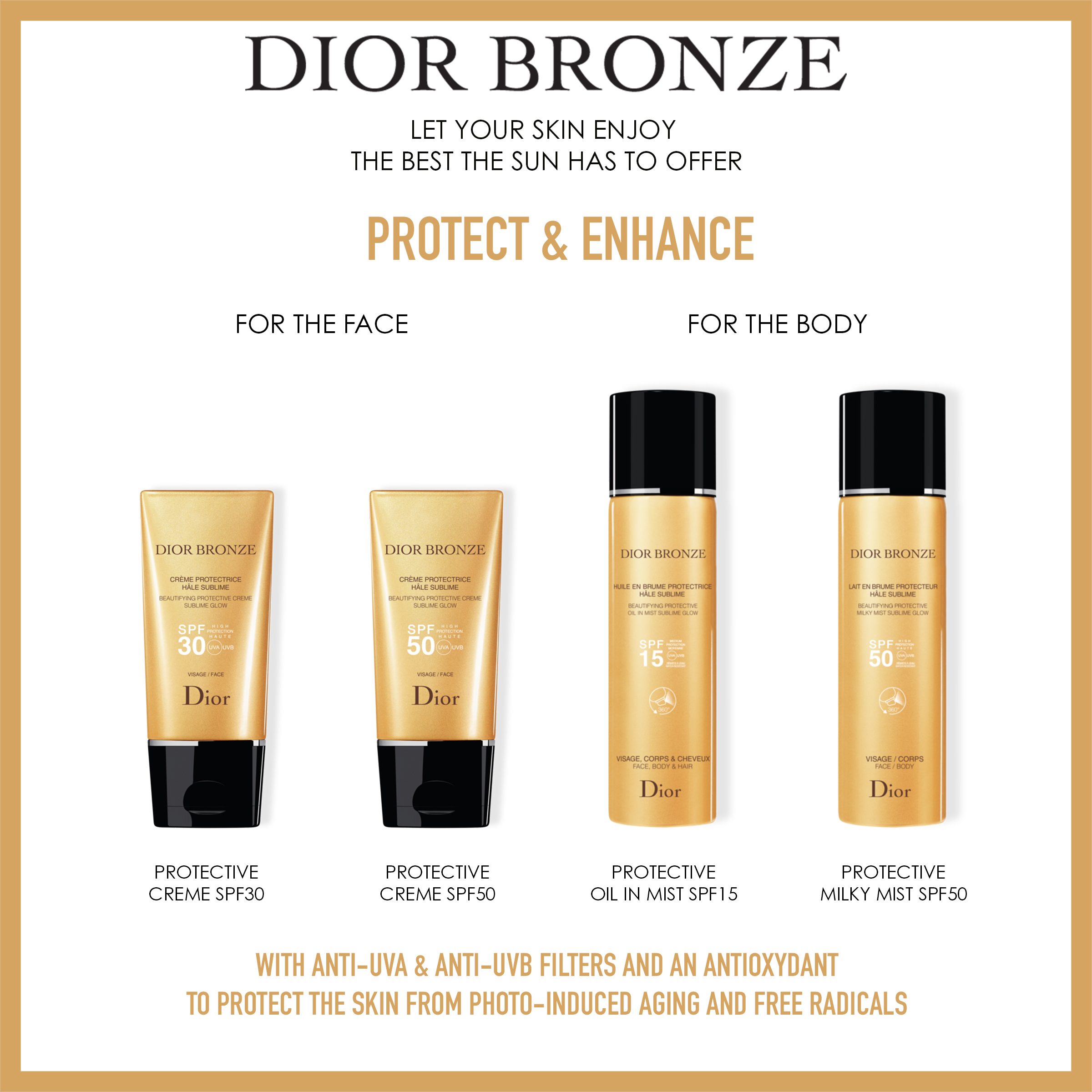 DIOR Dior Bronze Protective Milky Mist