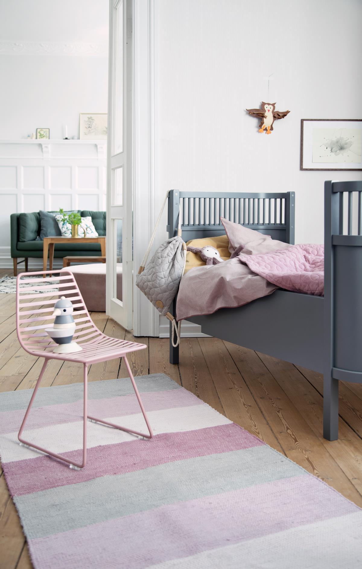 Sebra seng baby&junior, grå