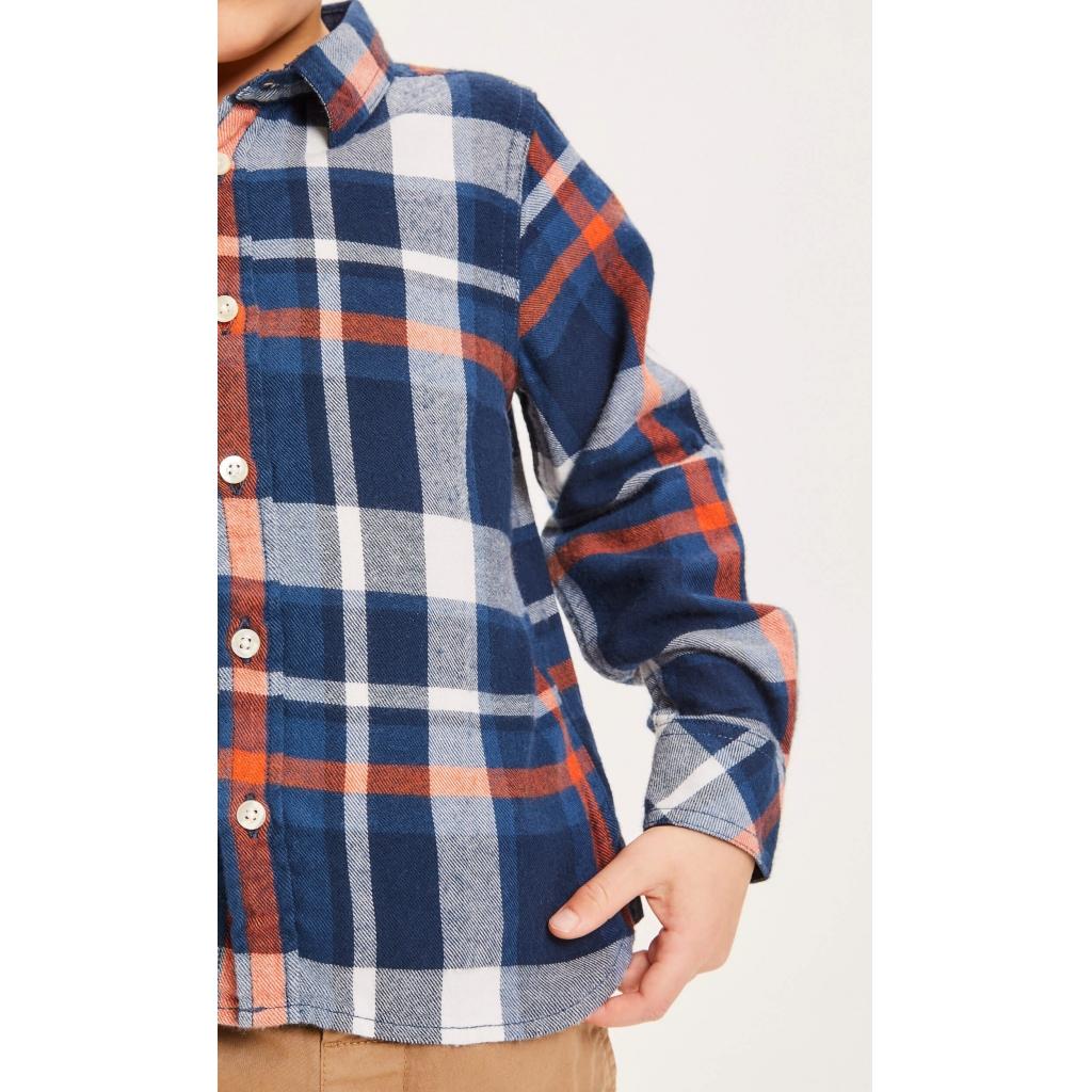 Knowledge Cotton Apparel HEBE flannel skjorte, total eclipse, 98-104