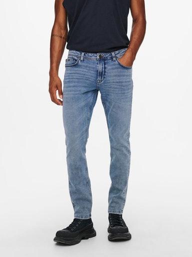Only & Son Loom Jeans, Blue Denim, W29/L34