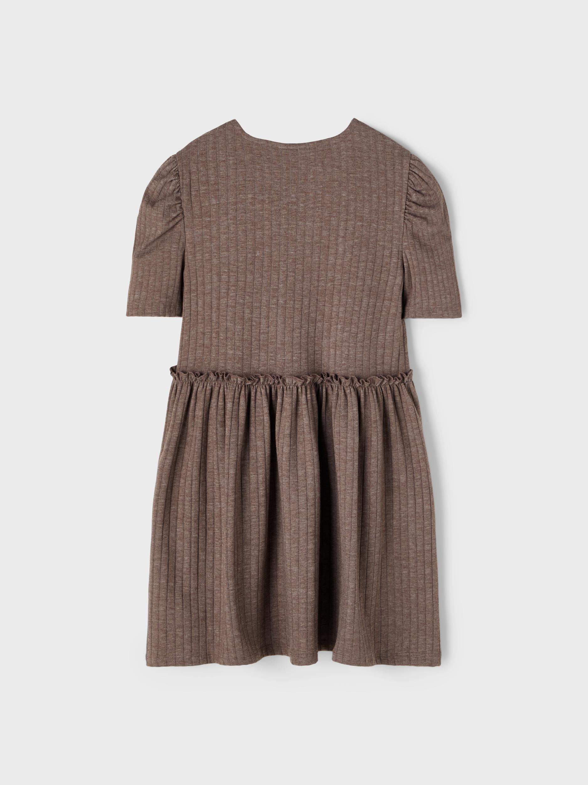 Name It Nola SS kjole, deep taupe, 116