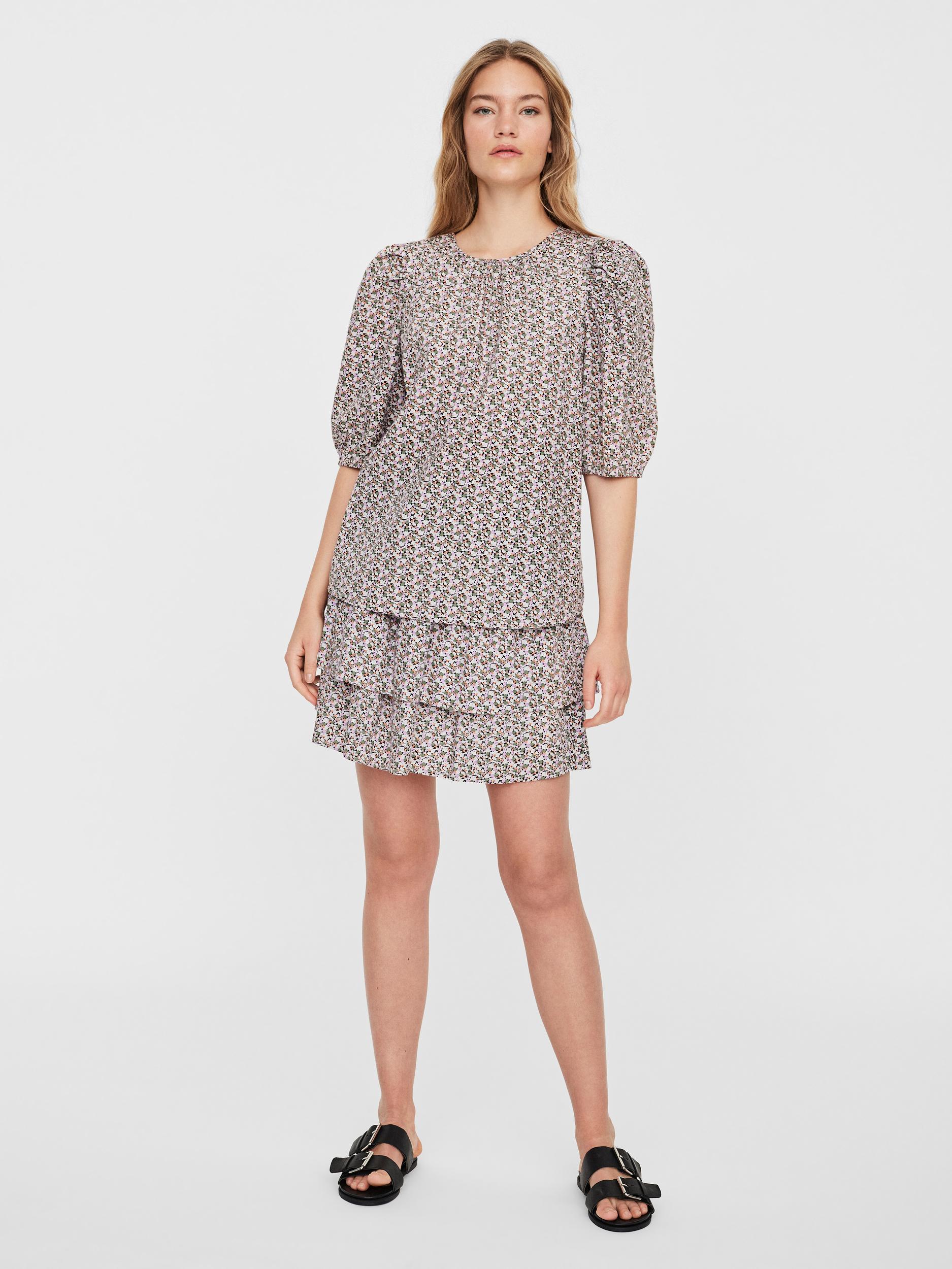 Vero Moda Lykke 2/4 t-shirt, pastel lilac, small
