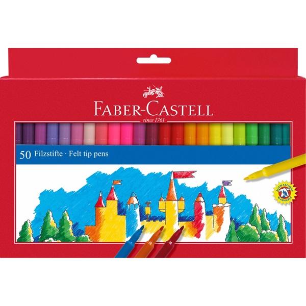 Faber-Castell Fibre-tip tusser, 50 stk.