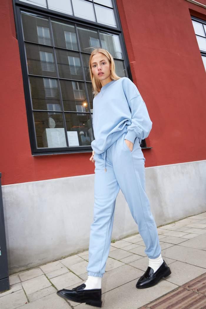 Coster Copenhagen oversize sweatshirt, dusty blue, medium