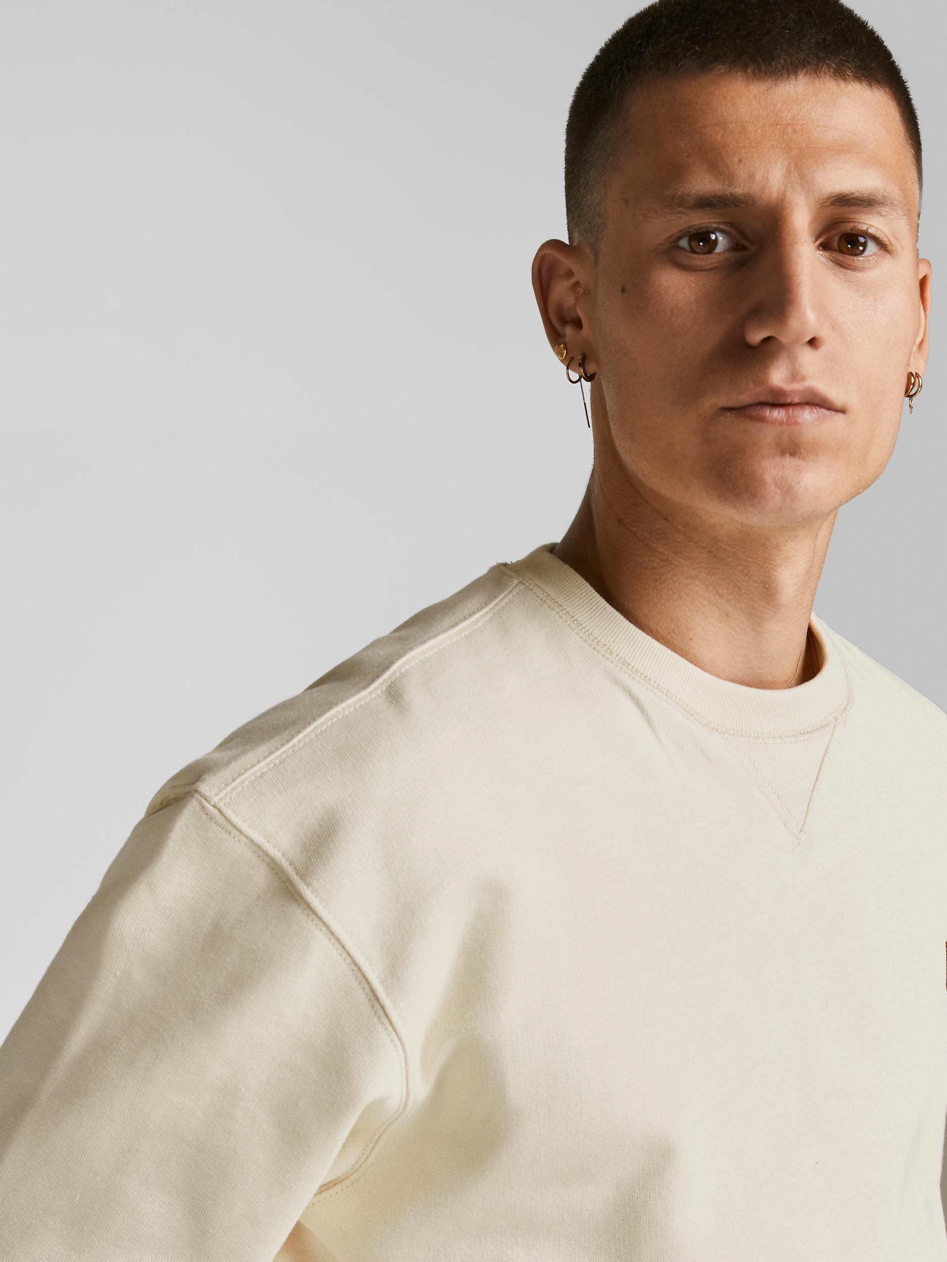 Jack & Jones 12193755 sweatshirt, whisper white, large